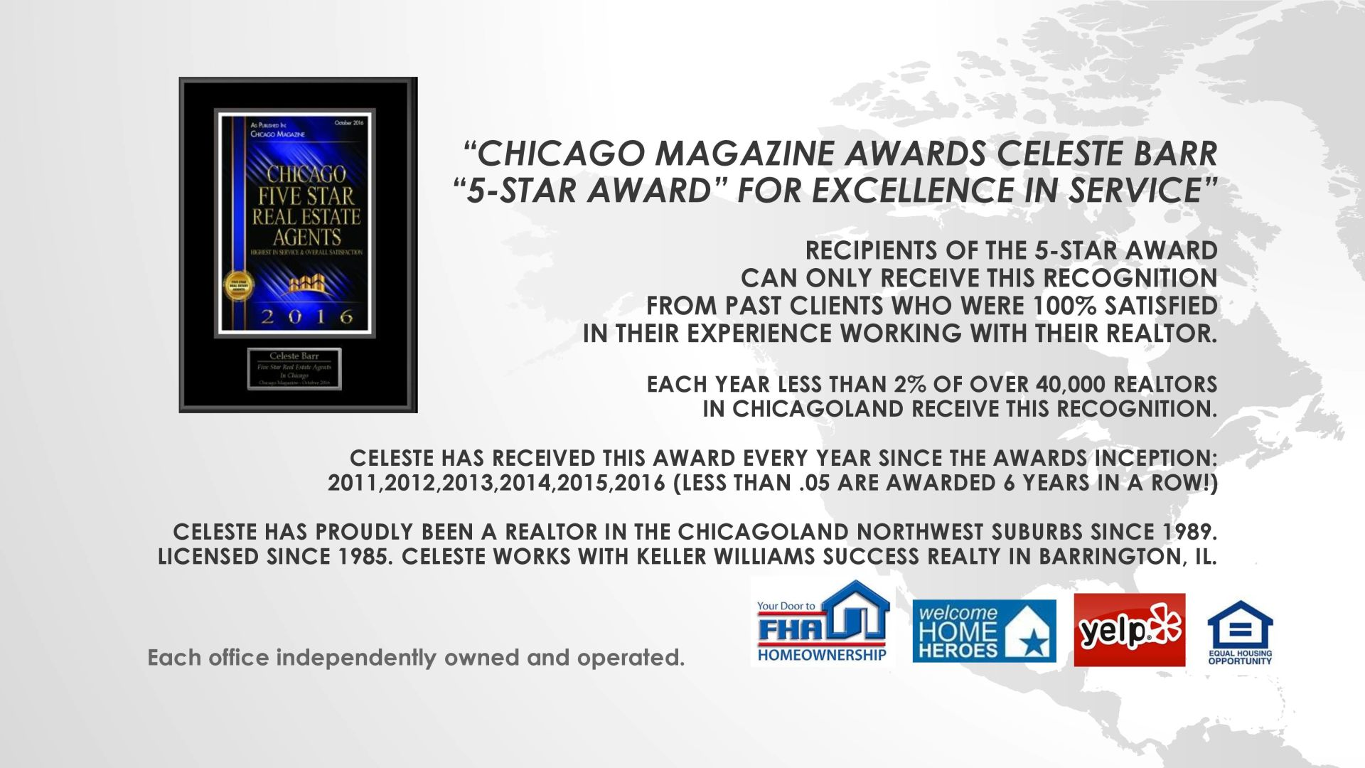 5-Star Award Winner – Chicago Magazine