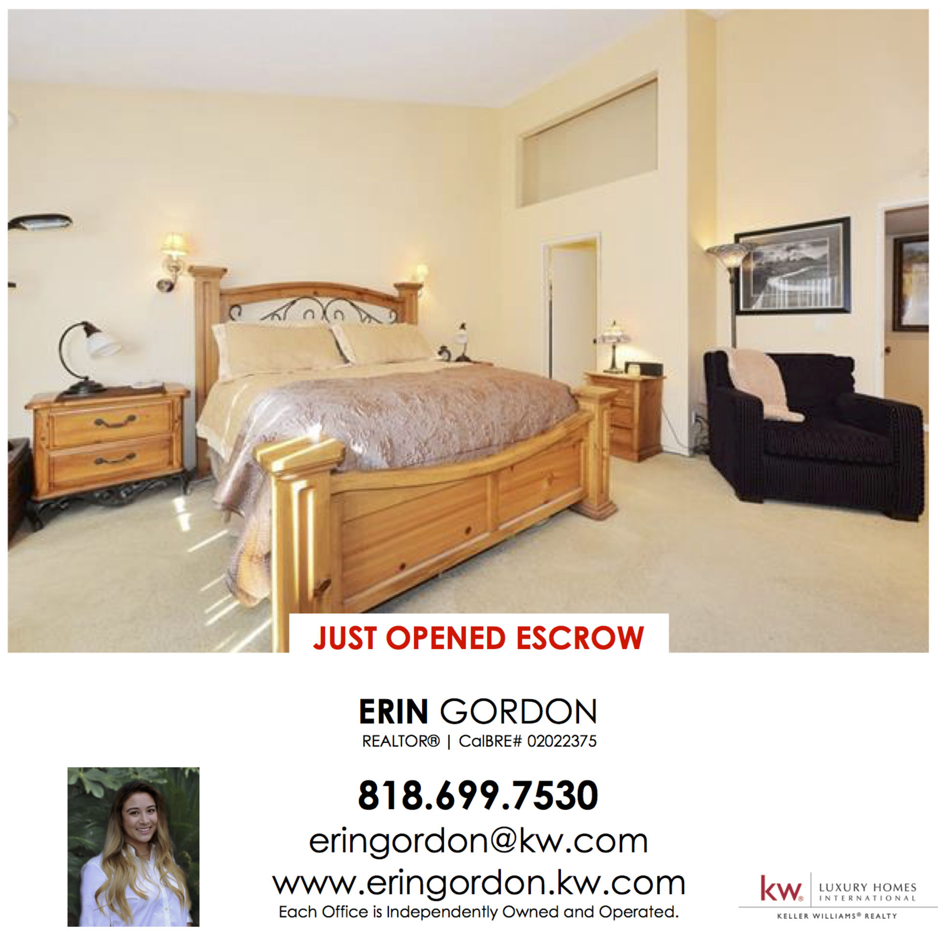 Just Opened Escrow