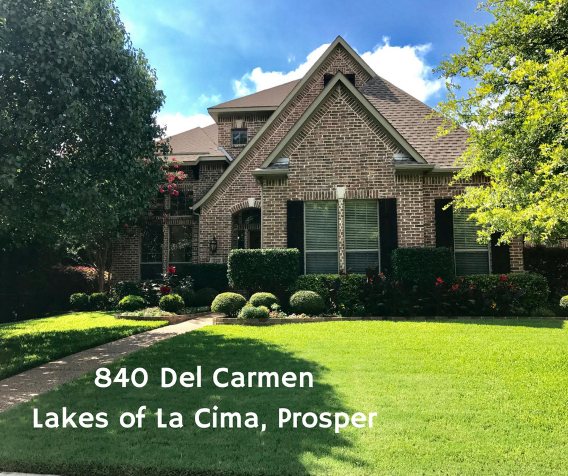 New listing – 840 Del Carmen in Prosper – Video in link!
