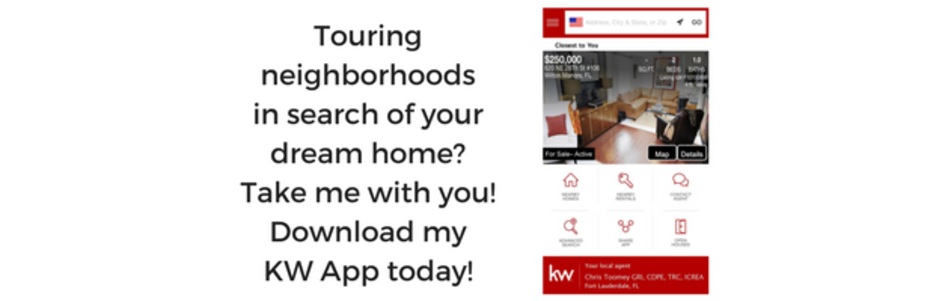 Touring neighborhoods in search of your dream home? Take me with you!