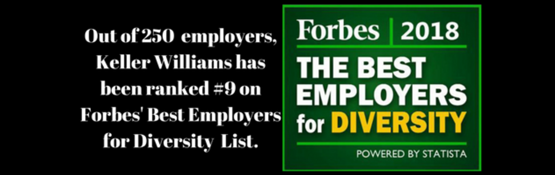 Keller Williams Ranked #9 on Forbes' Best Employers For Diversity
