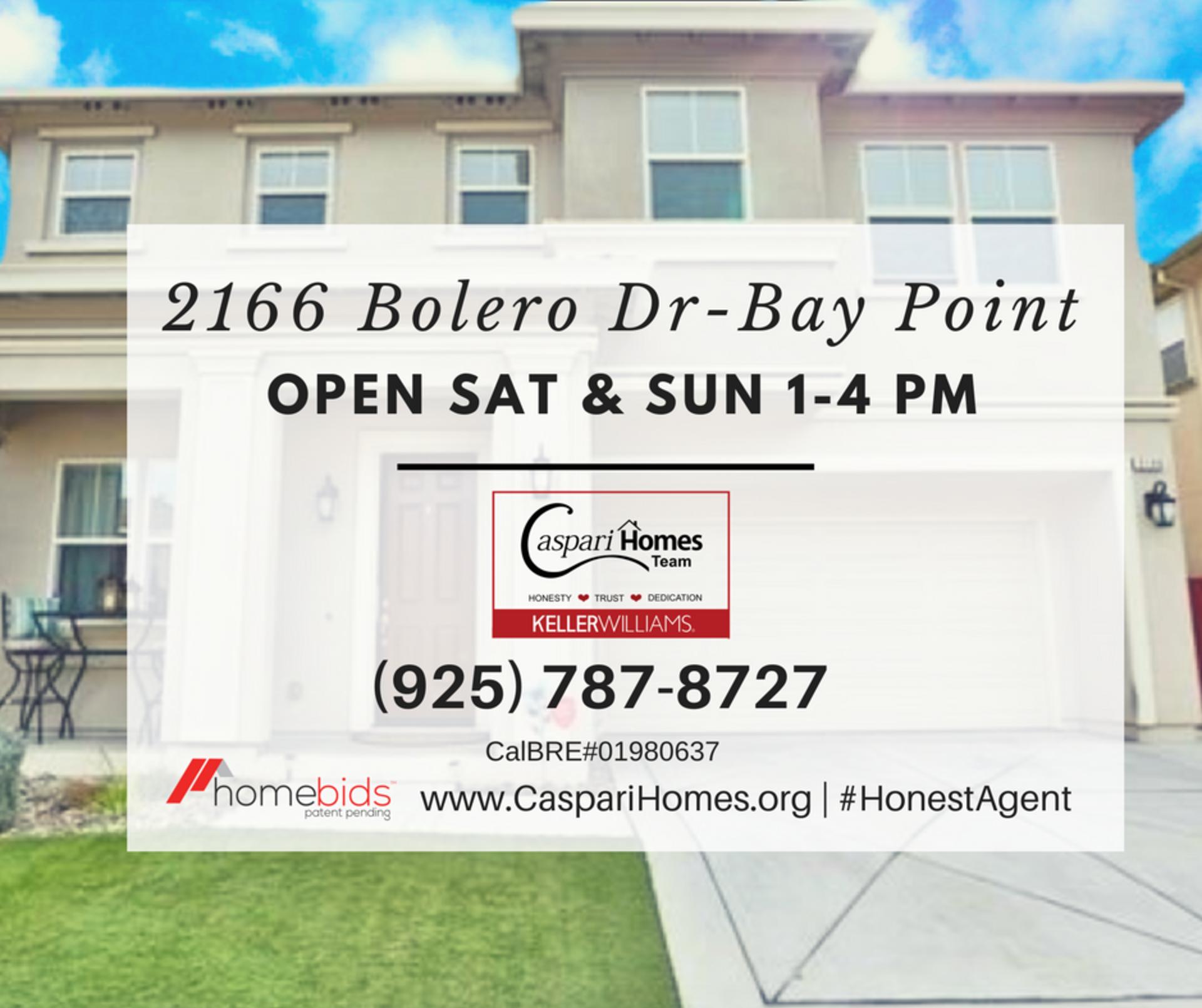 OPEN HOUSE 2166 Bolero Dr – Bay Point