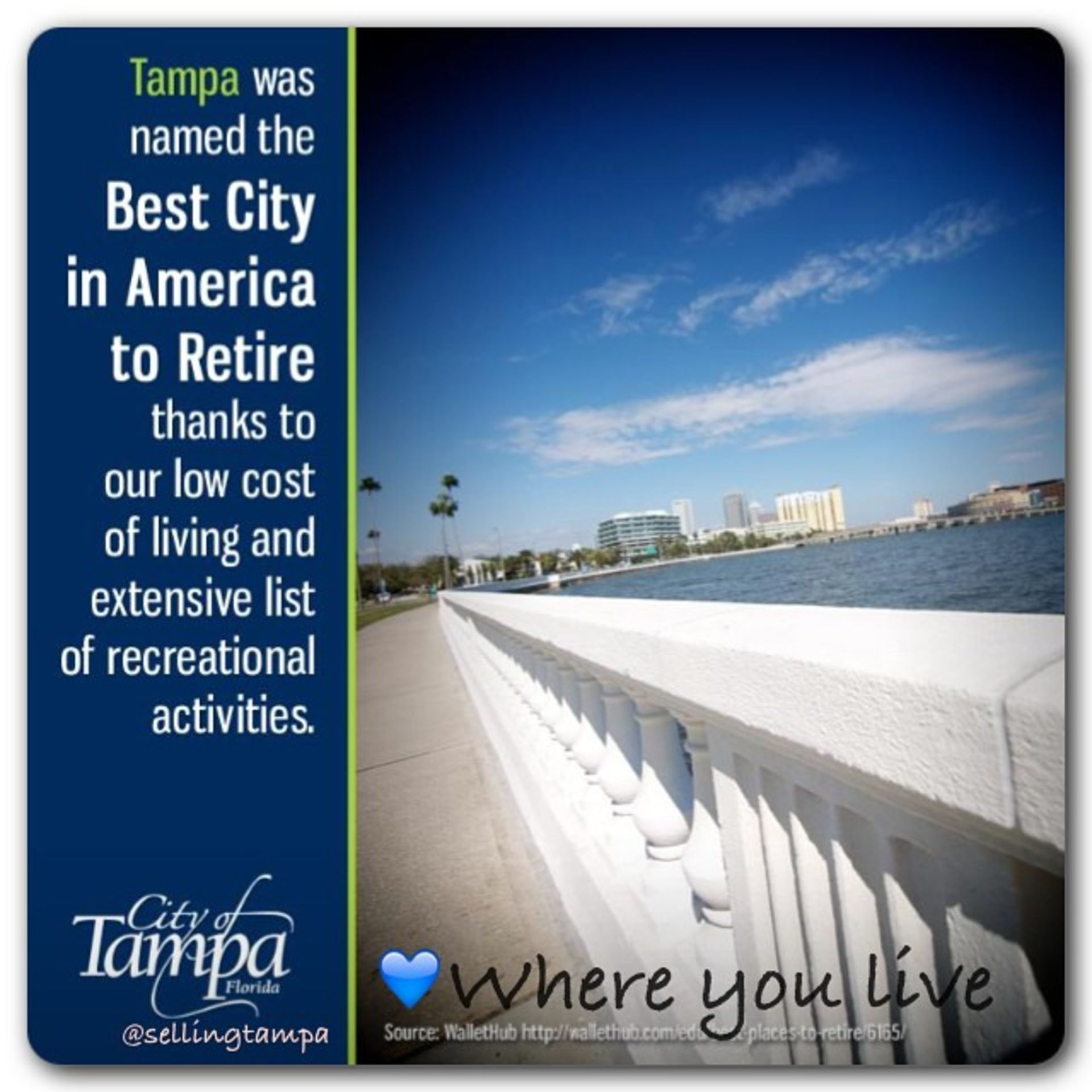 Tampa on of most popular  the retirement HOT SPOT