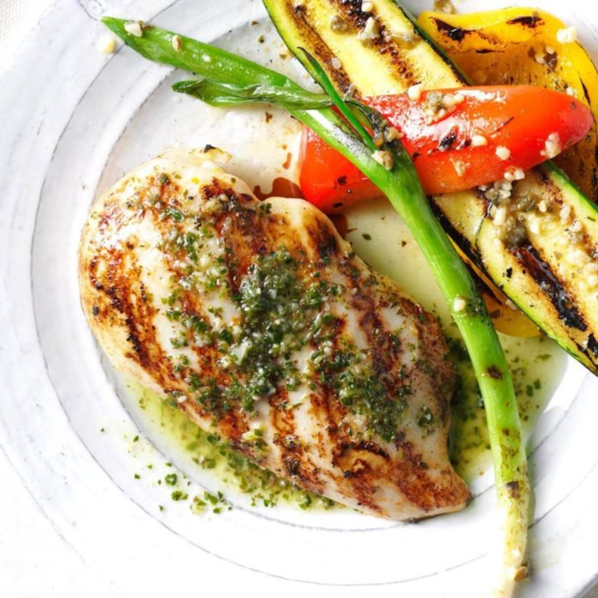 Grill Chicken with Citrus Chimichurri Sauce