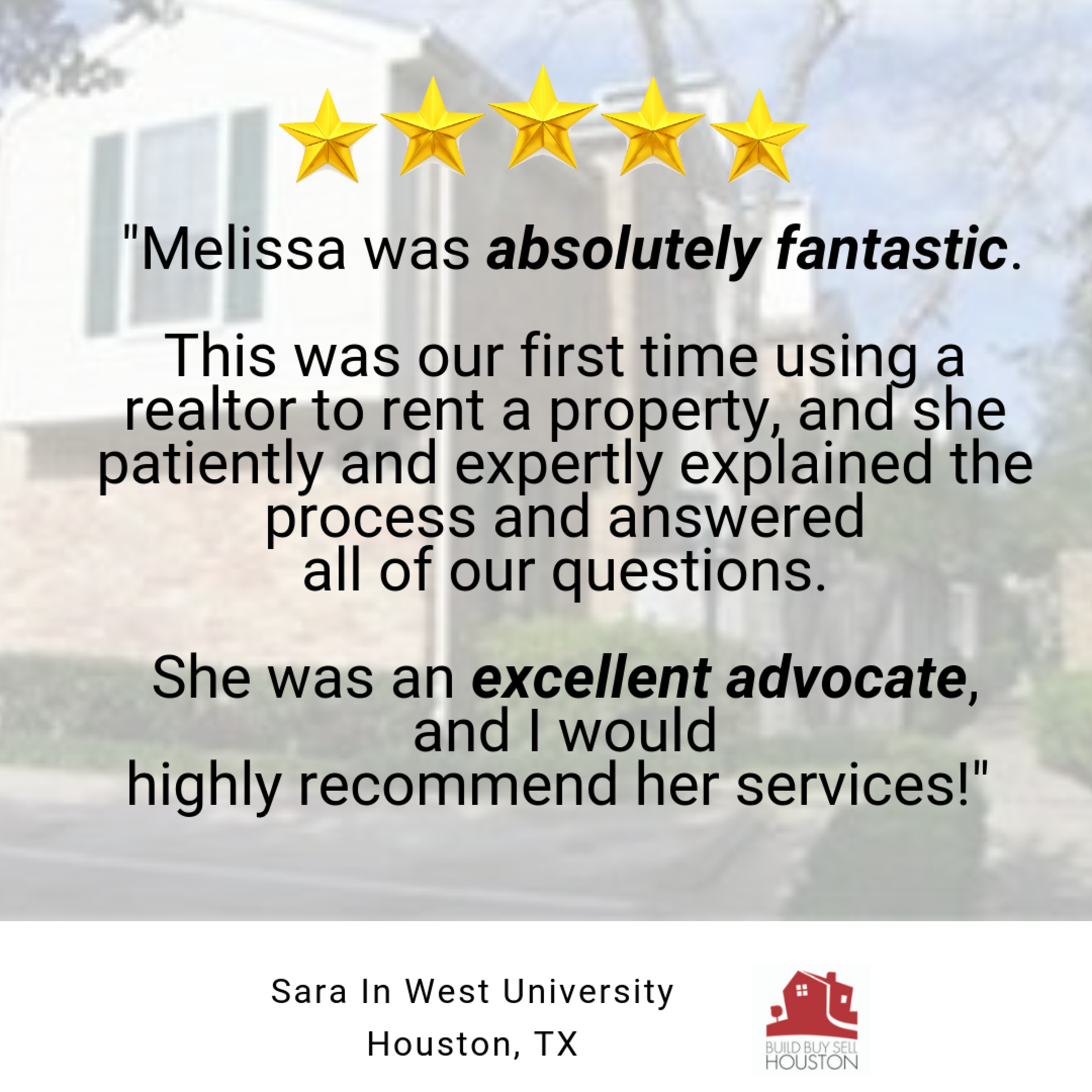 Client Testimonial: West University Area