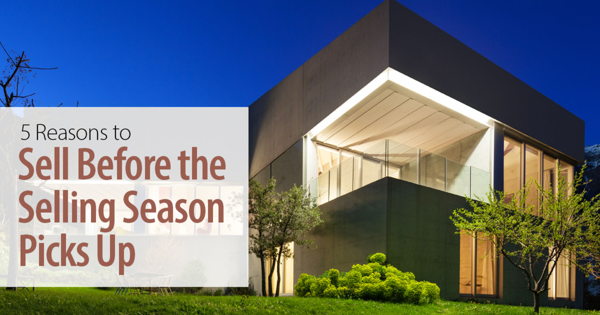 5 Reasons to Sell Before the Selling Season Starts