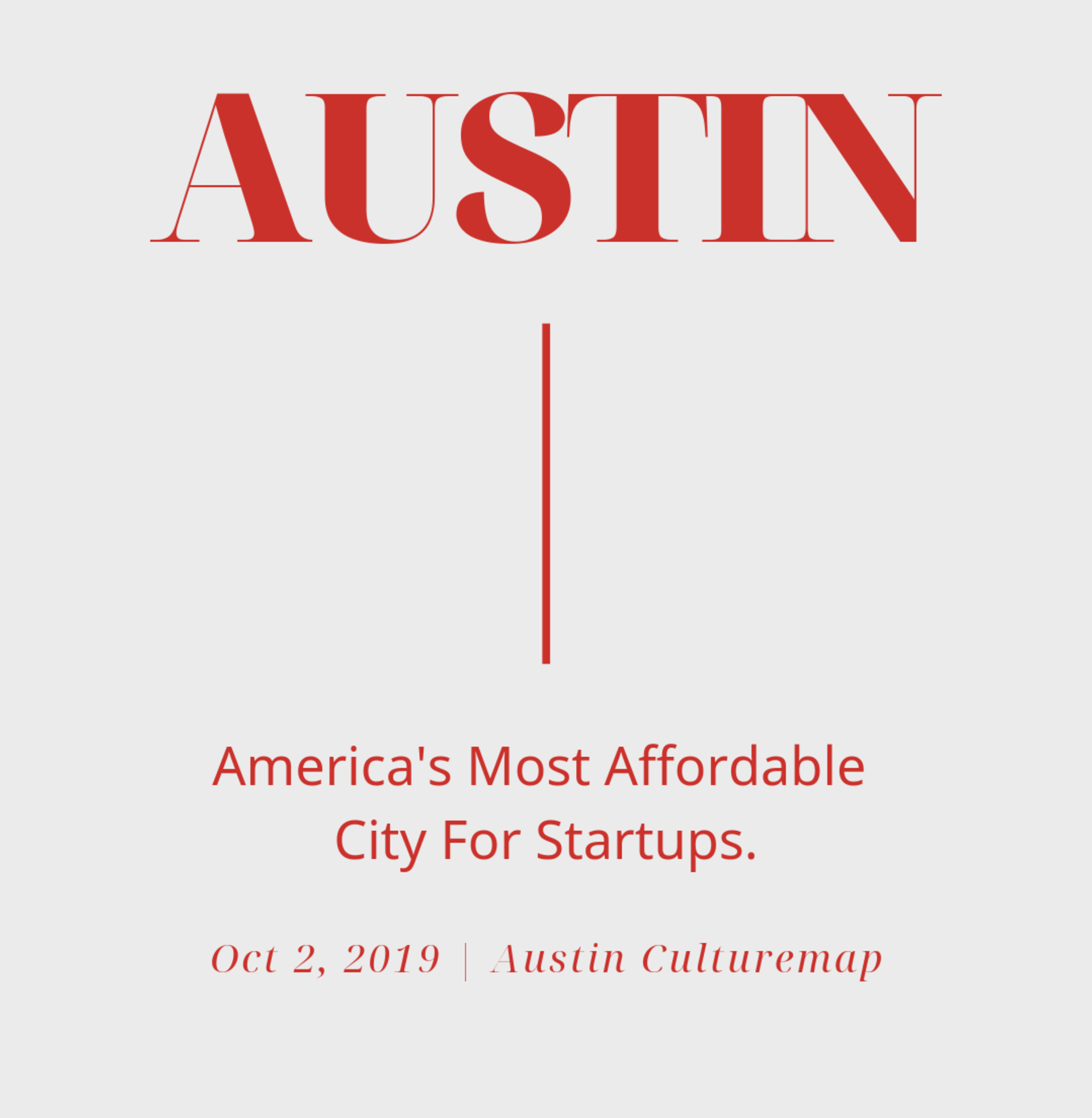 Another Reason Austin Is Such a Great City