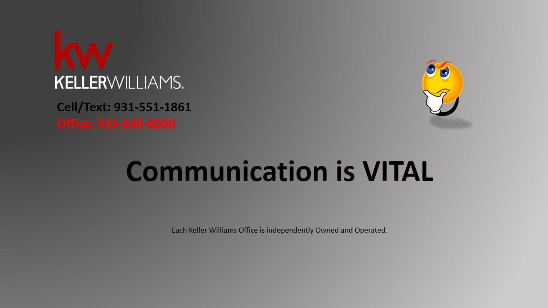 Communication is Vital