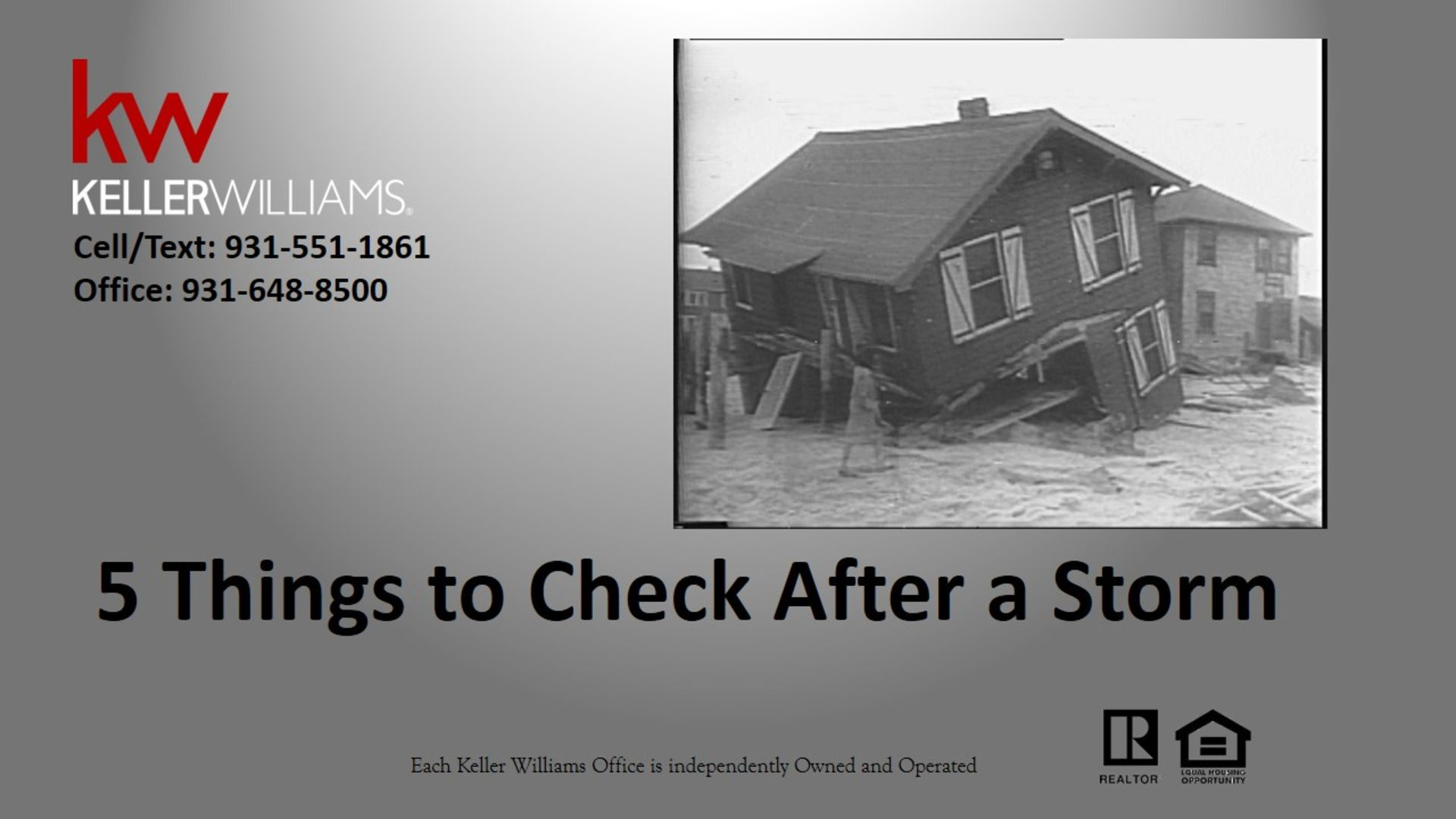 5 Things to Check After a Storm