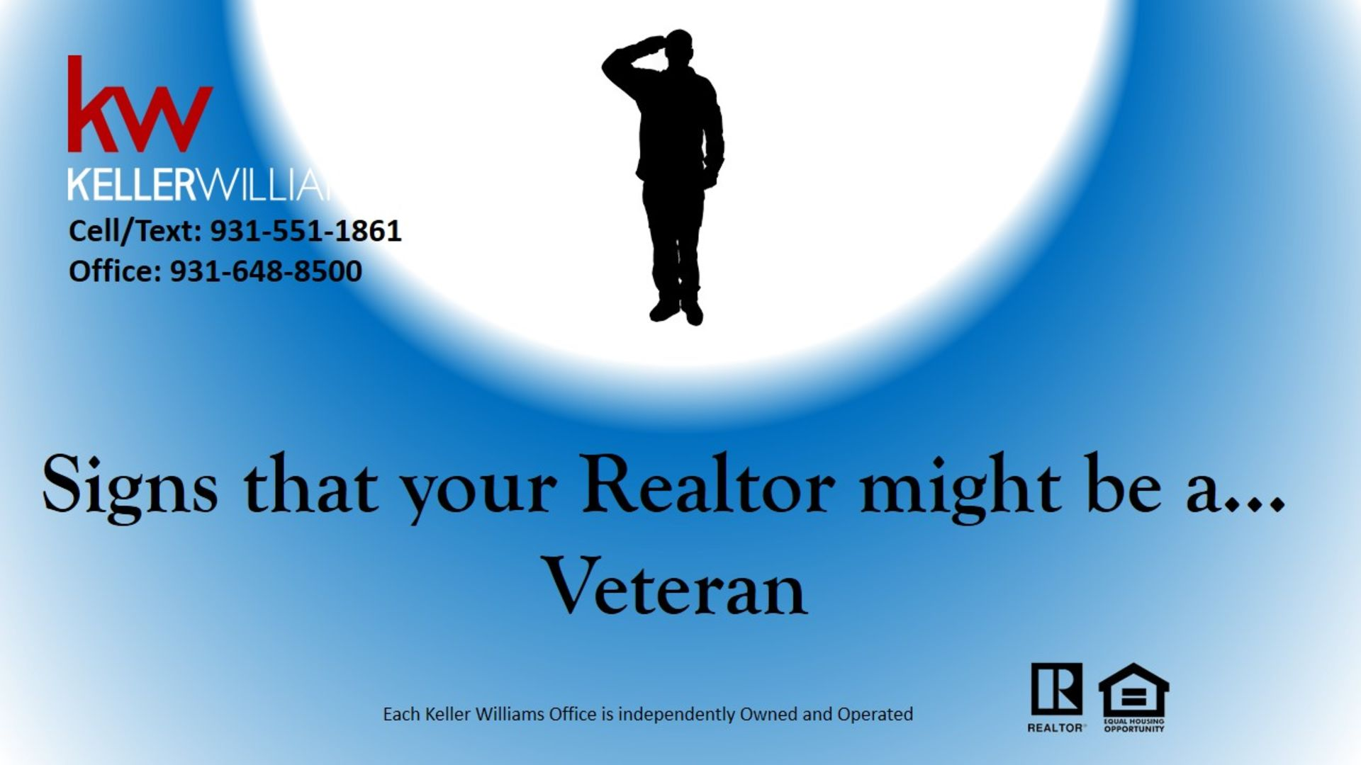 Signs that your Realtor might be a Veteran