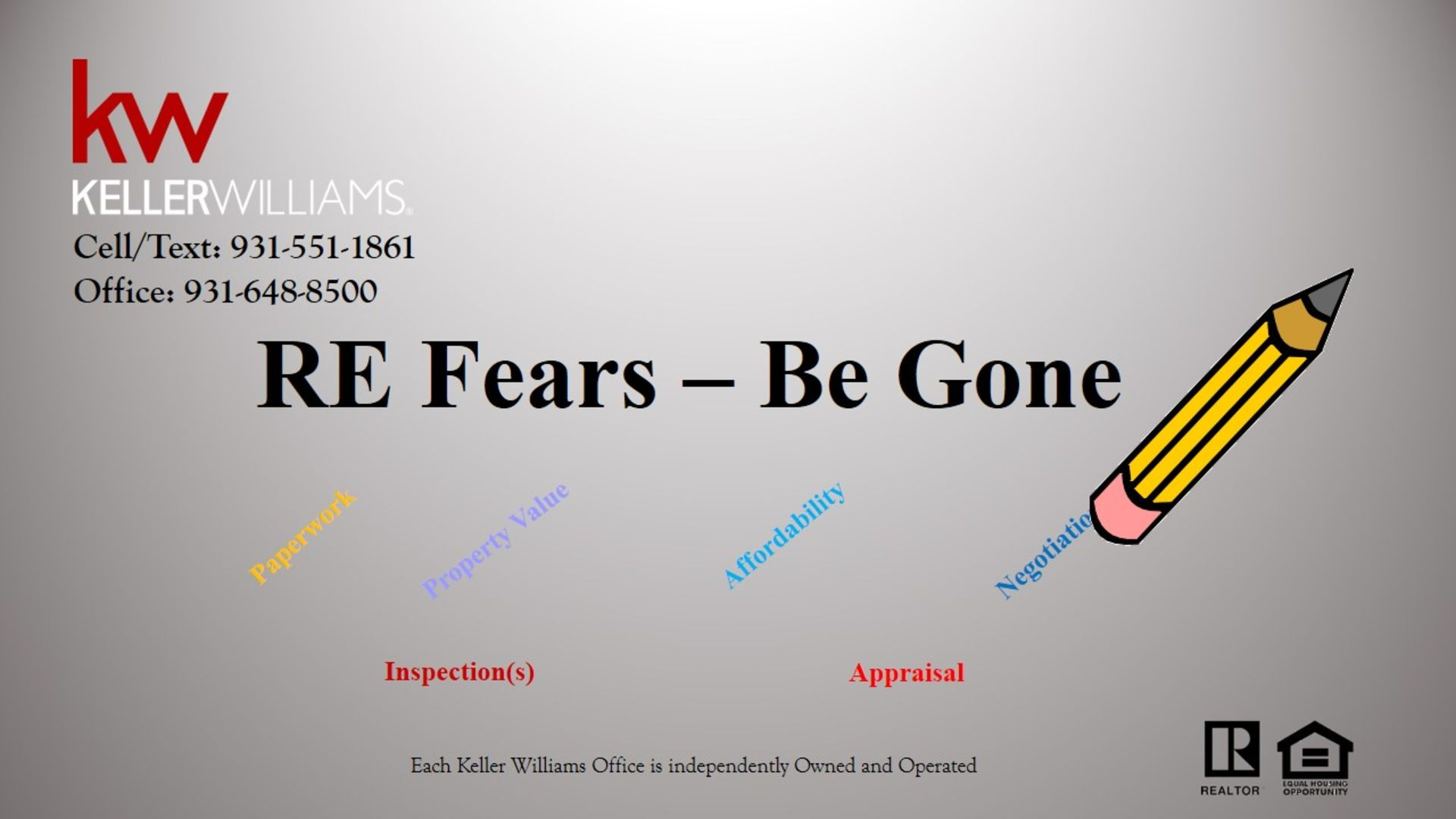 RE Fears – Be Gone