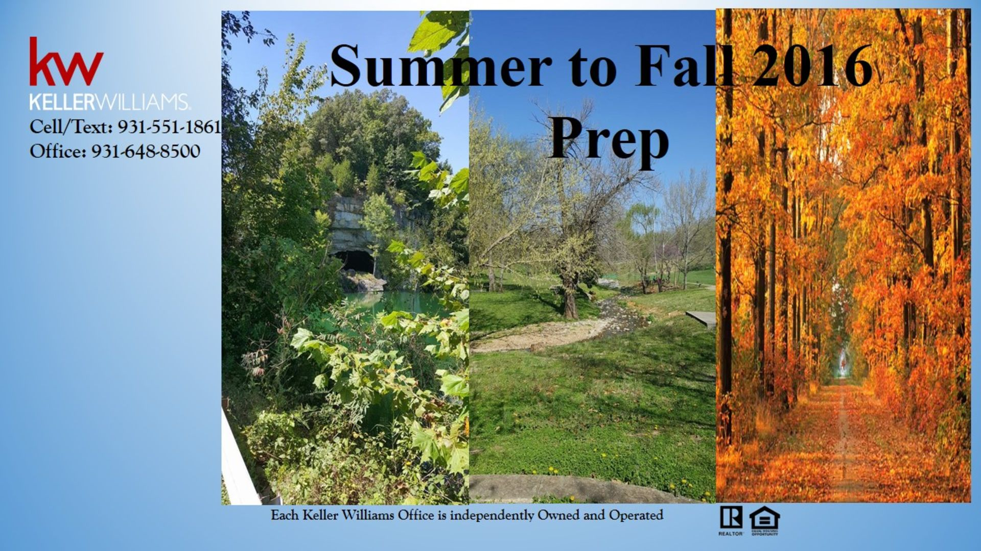 Summer to Fall 2016 Prep
