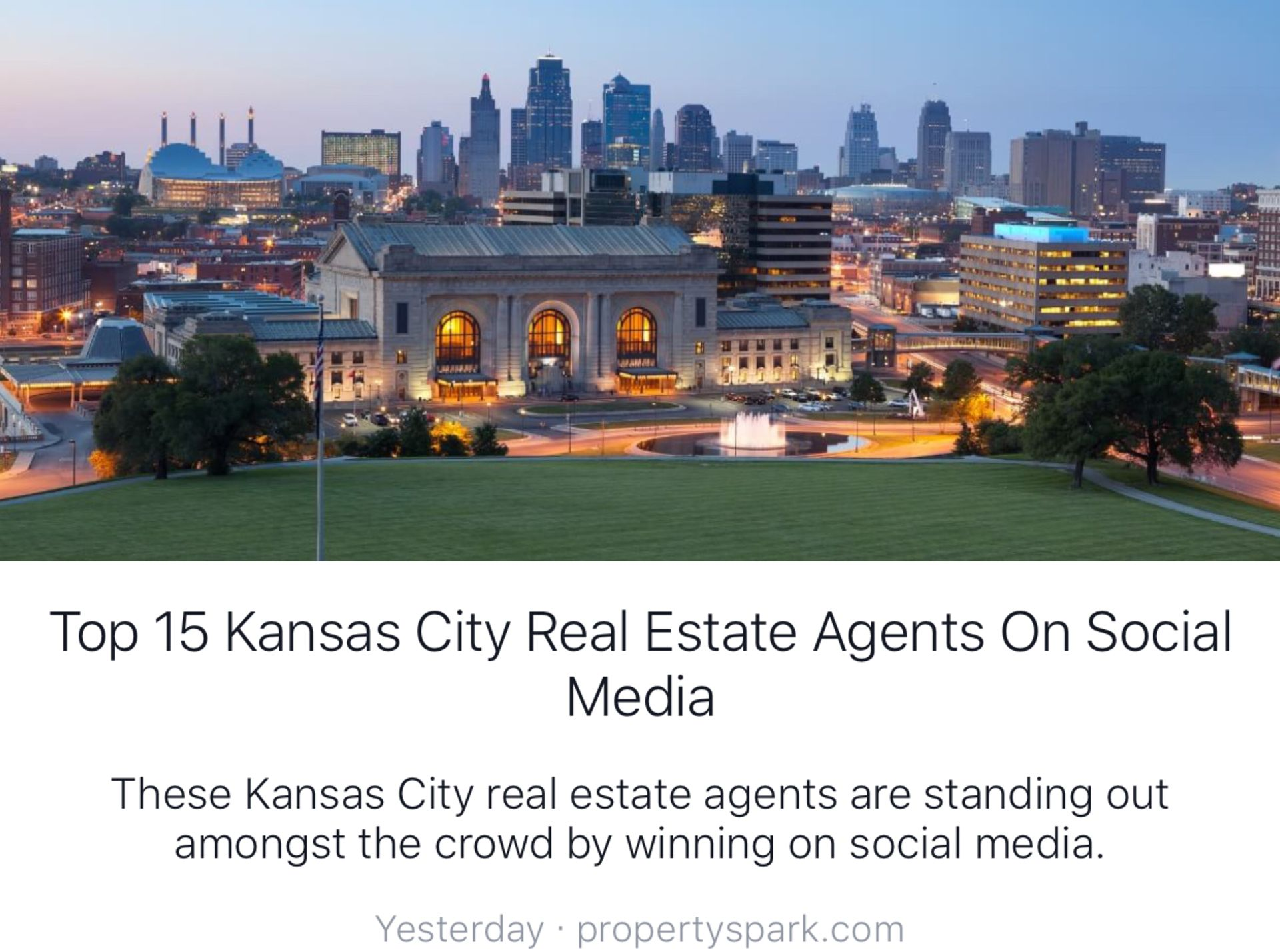 HOLLY MICHAEL #5 among Kansas City Real Estate Agents on Social Media