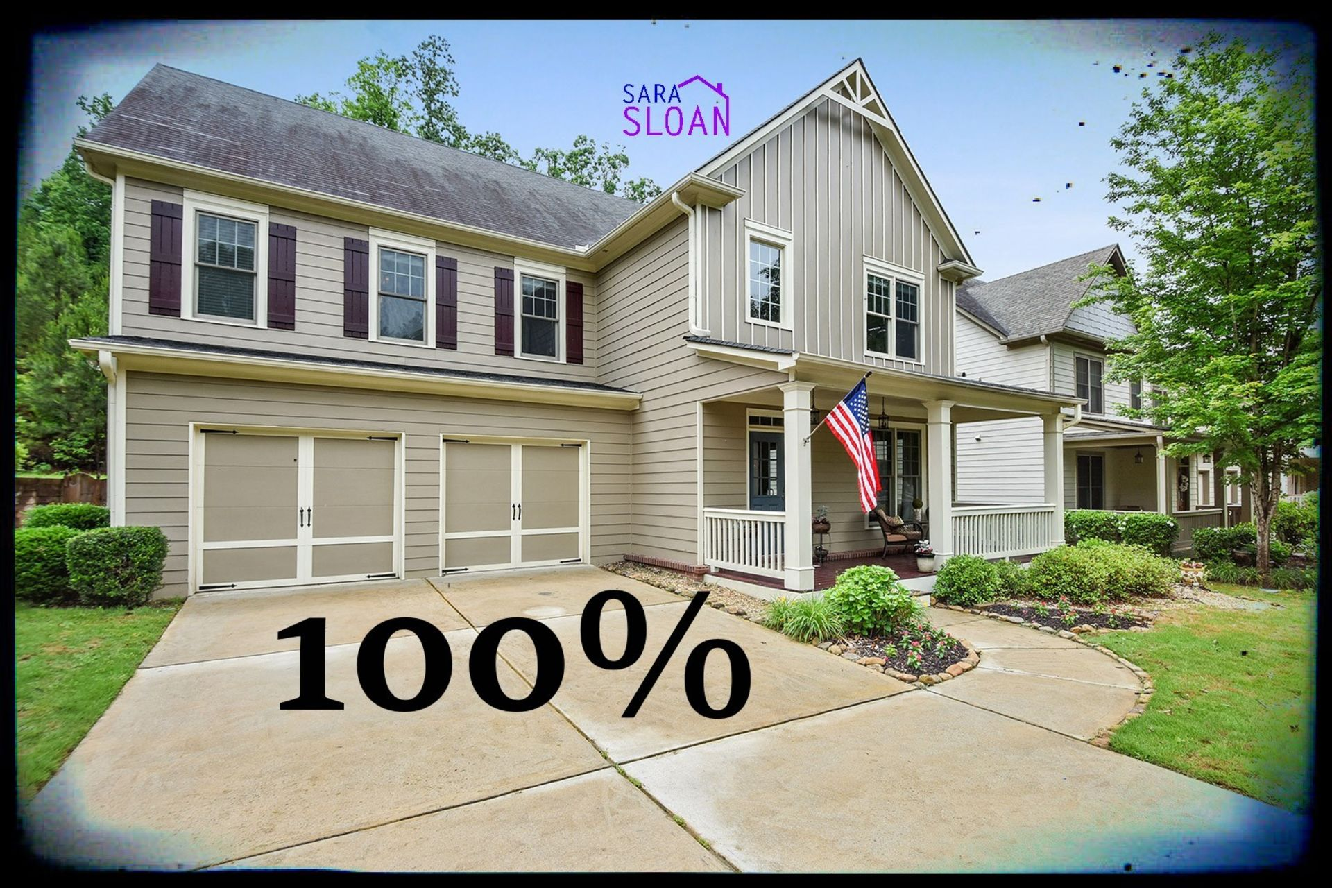 100% of asking price, SOLD in four days!