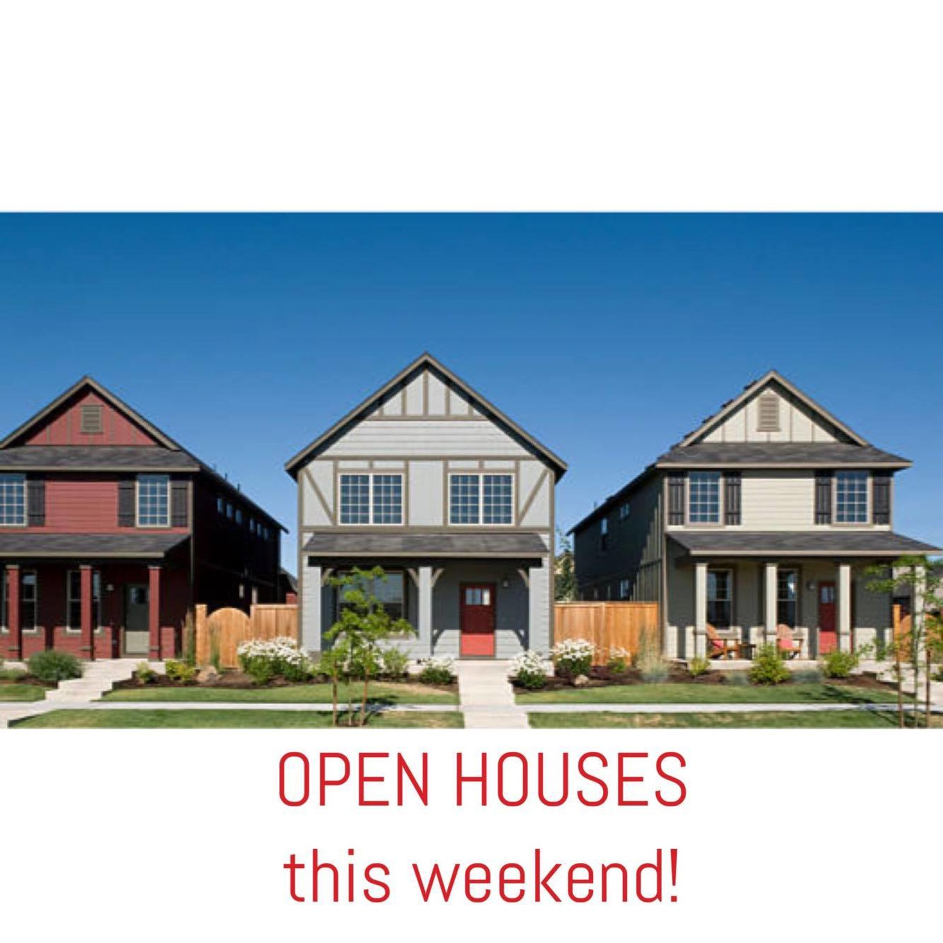 Open Houses this weekend (Feb 24/25)
