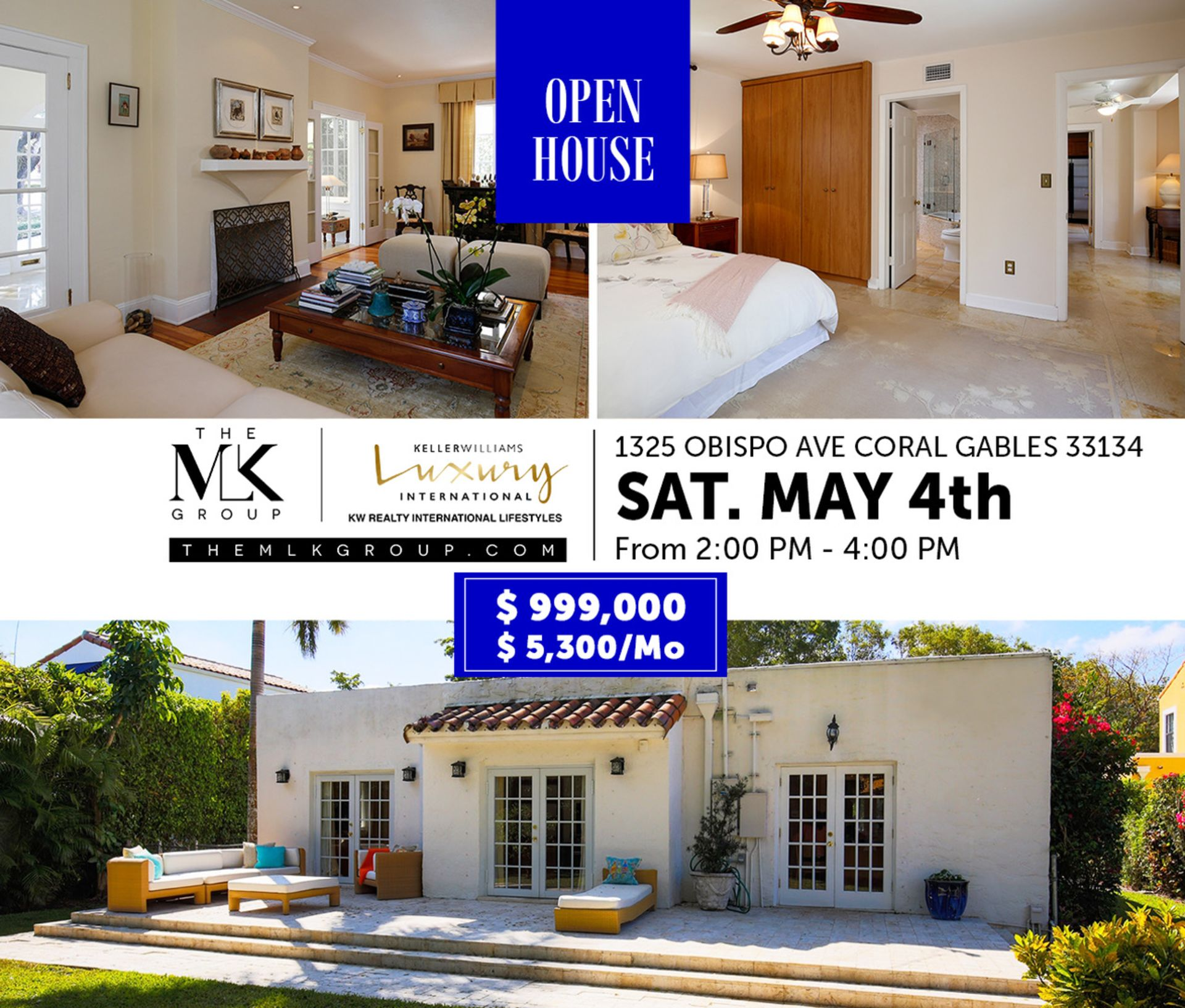 Open house this weekend in prime Coral Gables location, off the Granada Golf Course