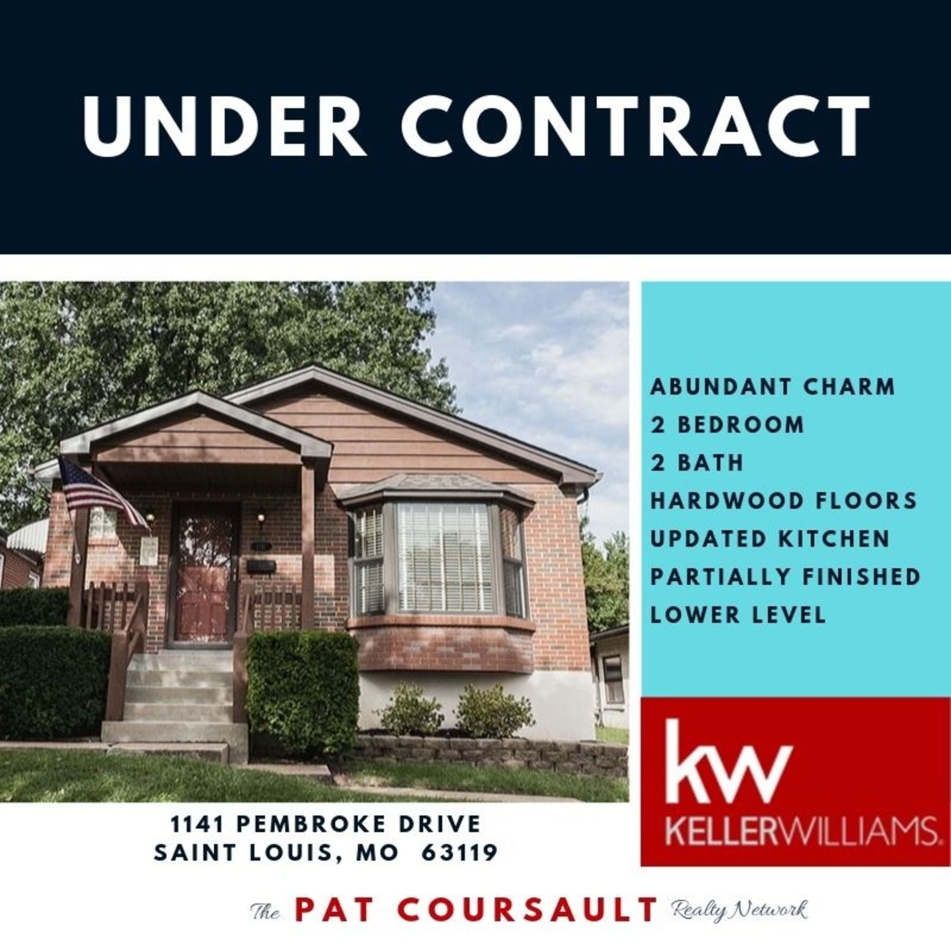 UNDER CONTRACT…1141 Pembroke Drive, 63119
