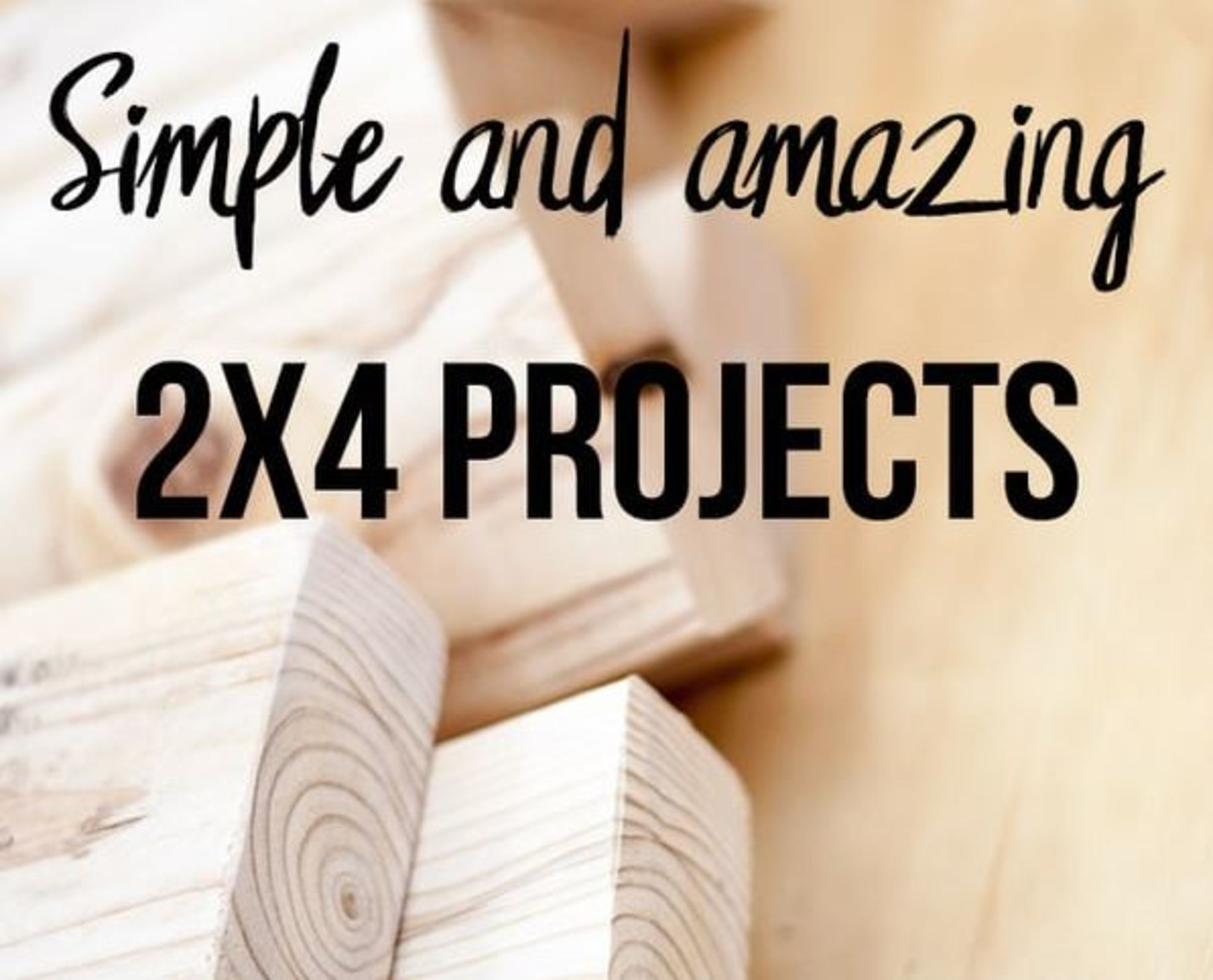 DIY Home Project: 24 SIMPLE AND AMAZING 2×4 WOOD PROJECTS
