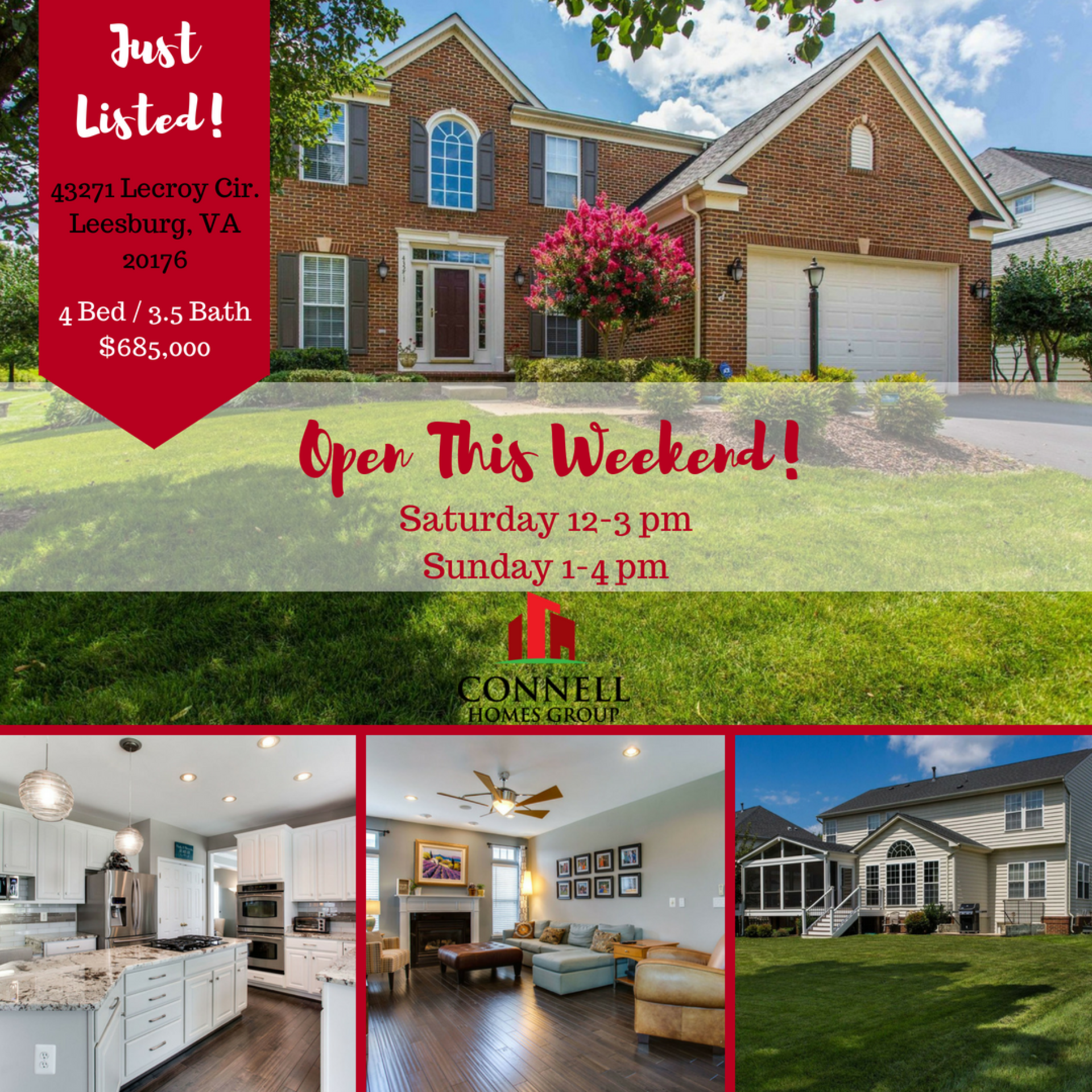 Just Listed! 43271 Lecroy Cir, Leesburg VA