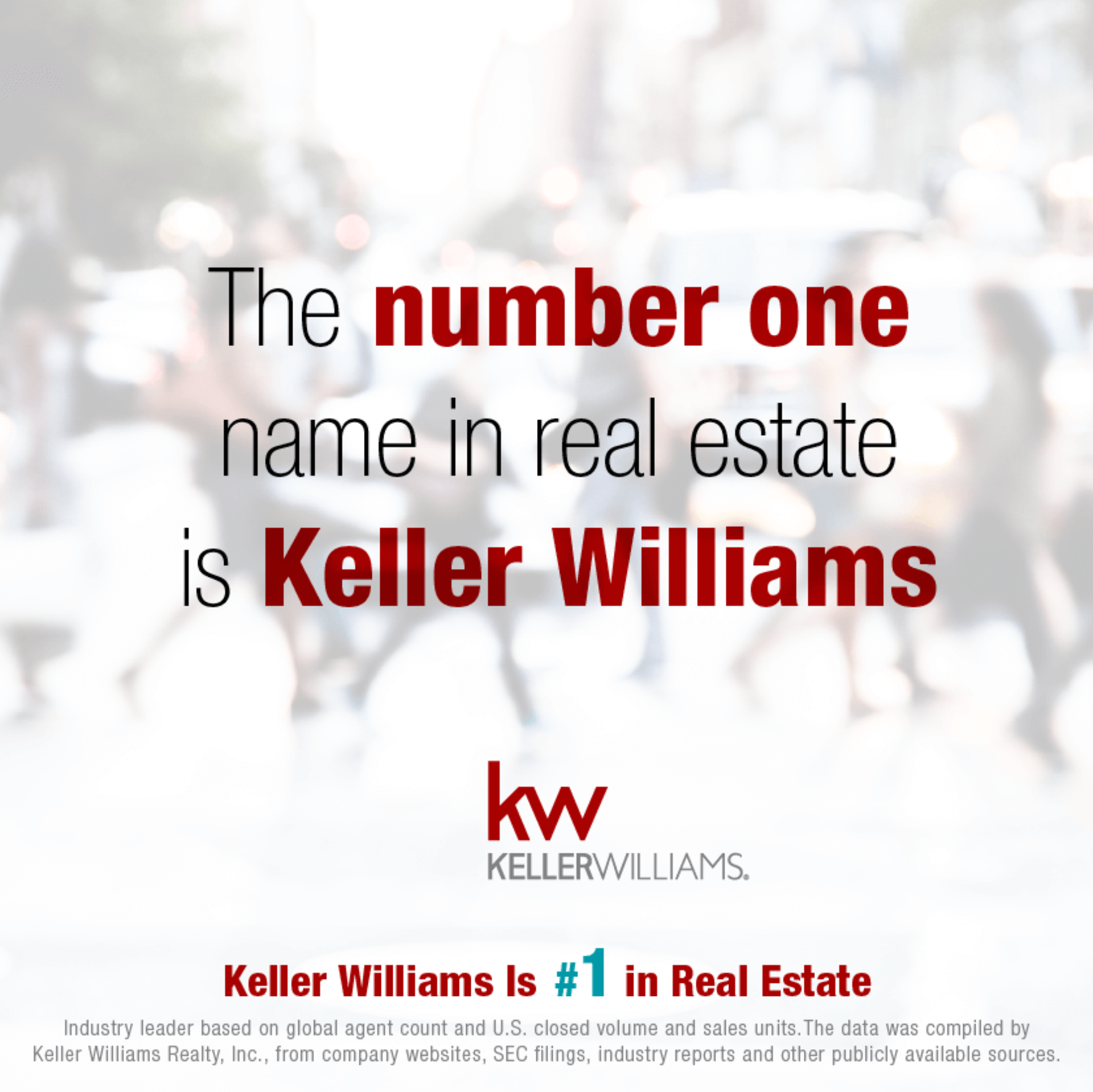 Keller Williams #1 in Real Estate!