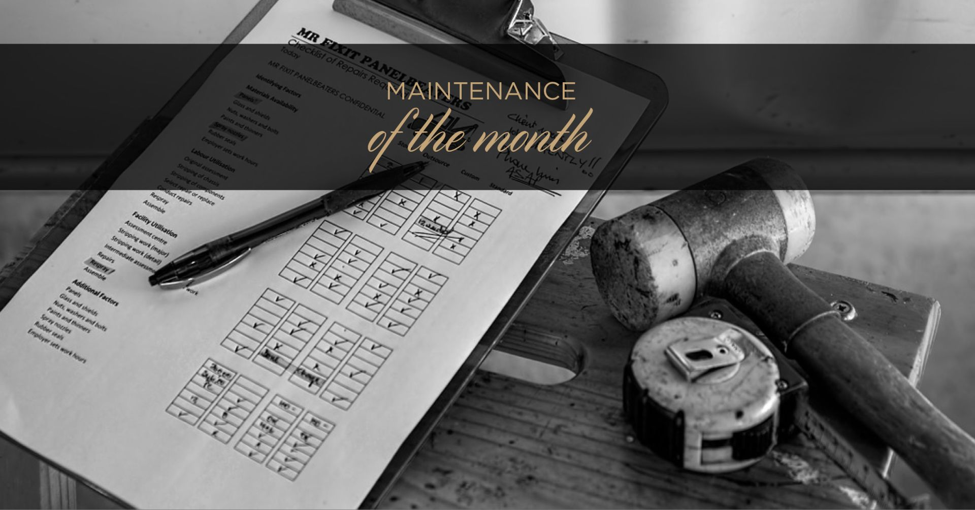 Maintenance of the Month