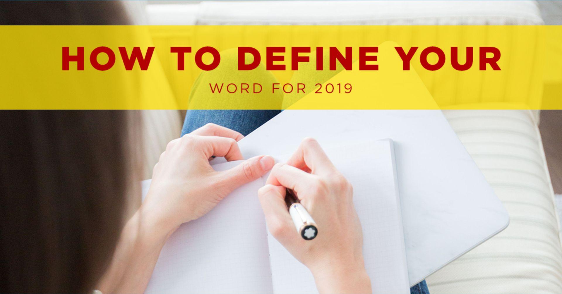 Define your 2019