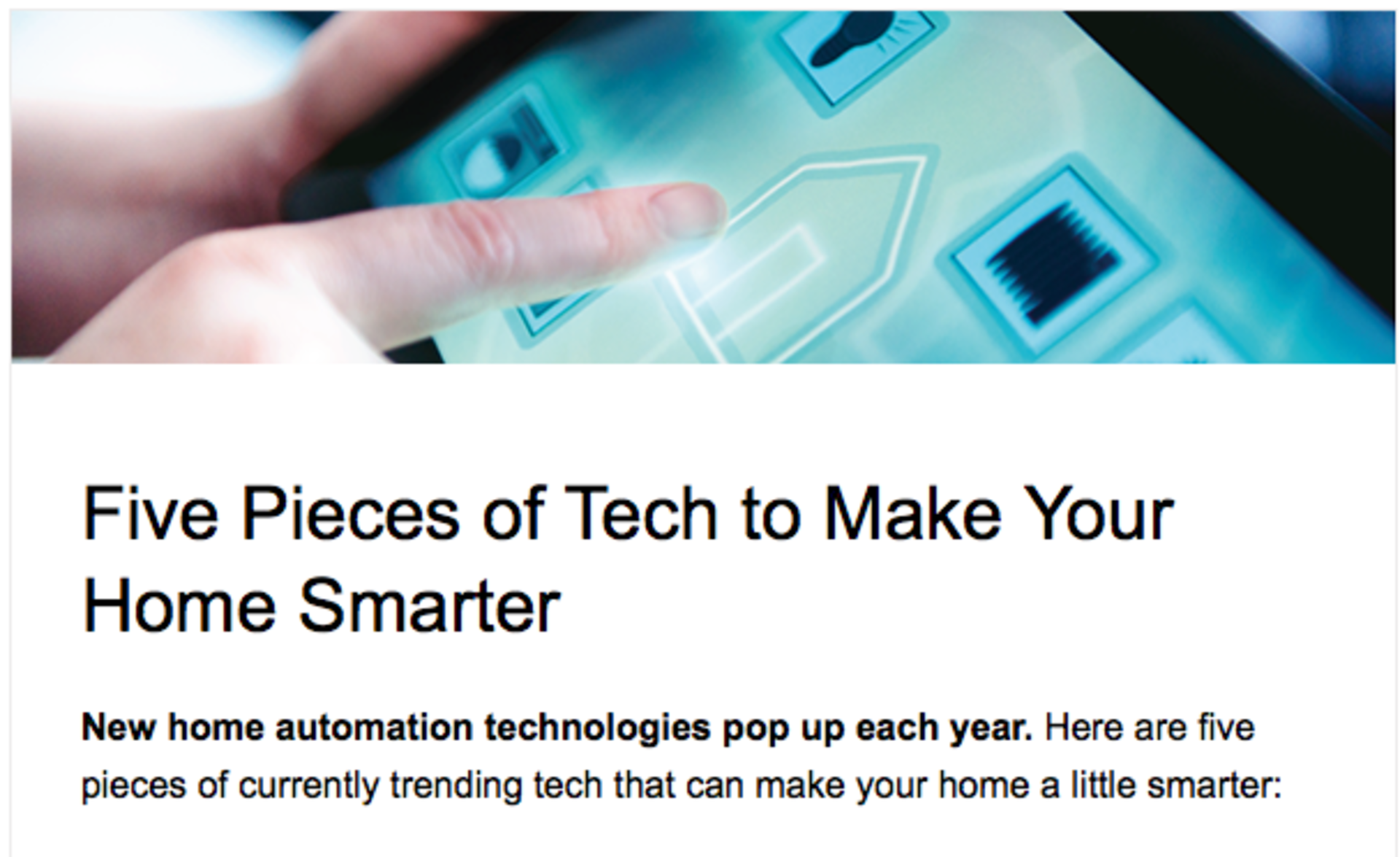 Five Pieces of Tech to Make Your Home Smarter