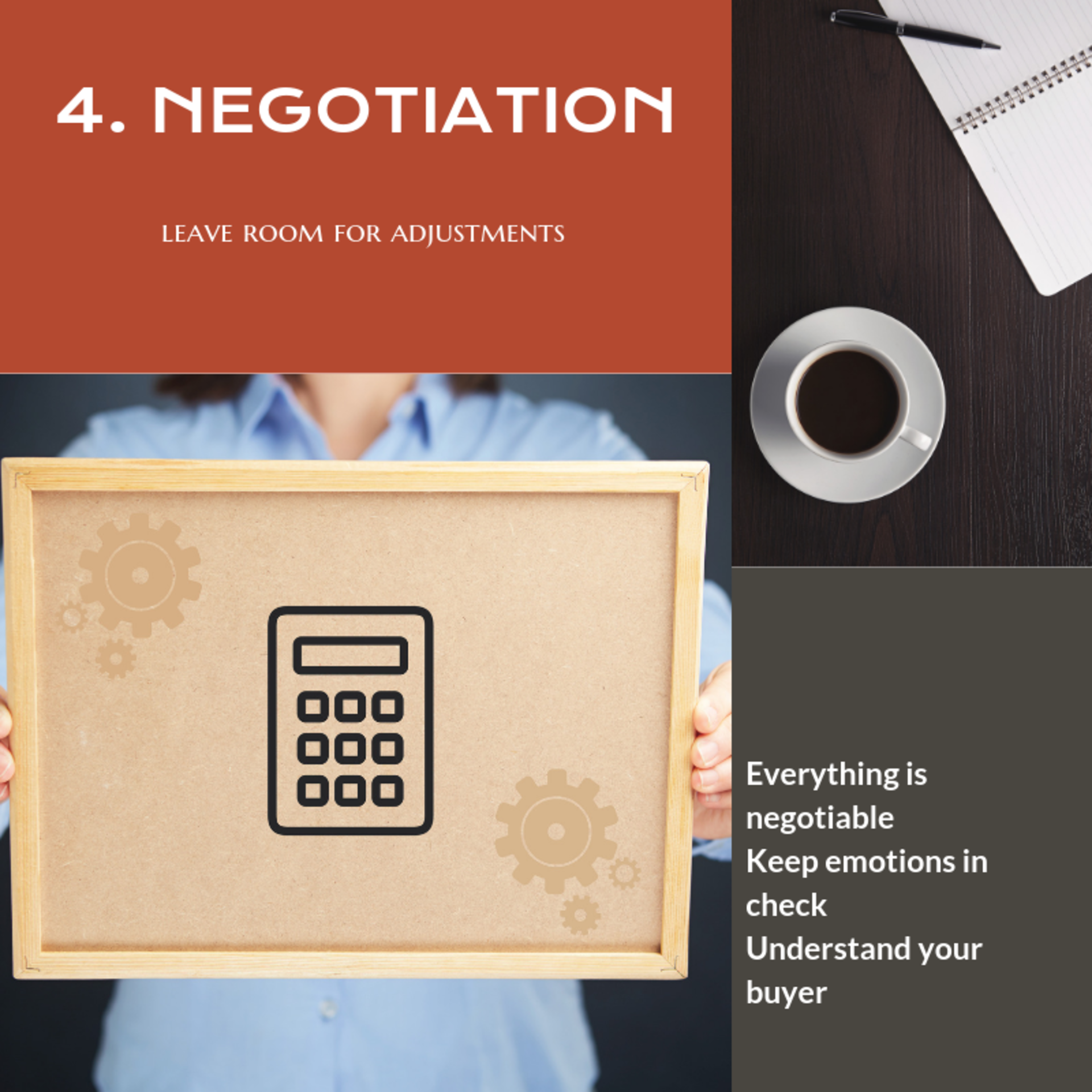 MAIN Considerations for Sellers: NEGOTIATION.