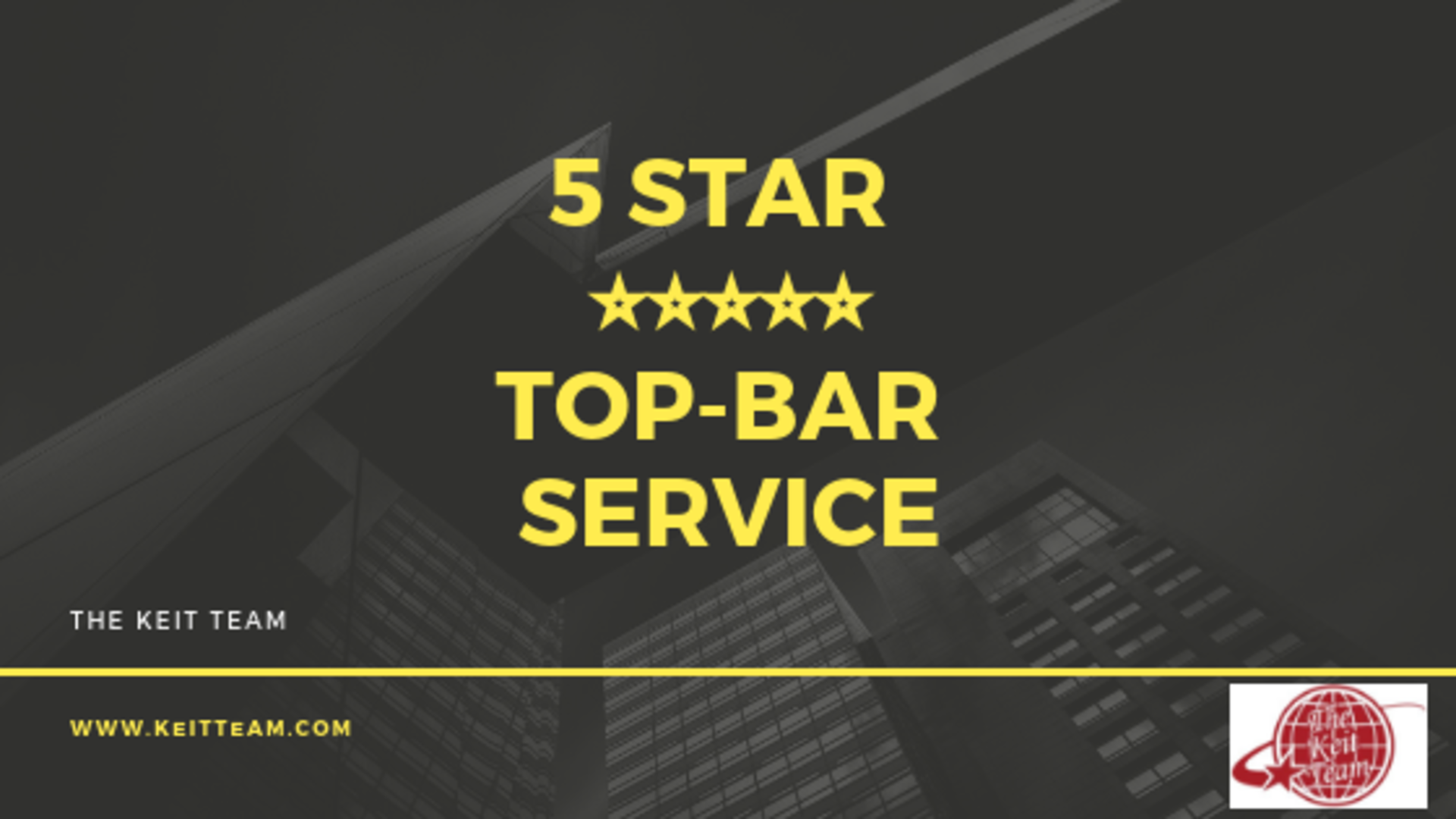 "Moving?  You Deserve ""5 Star, Top Bar"" Service"
