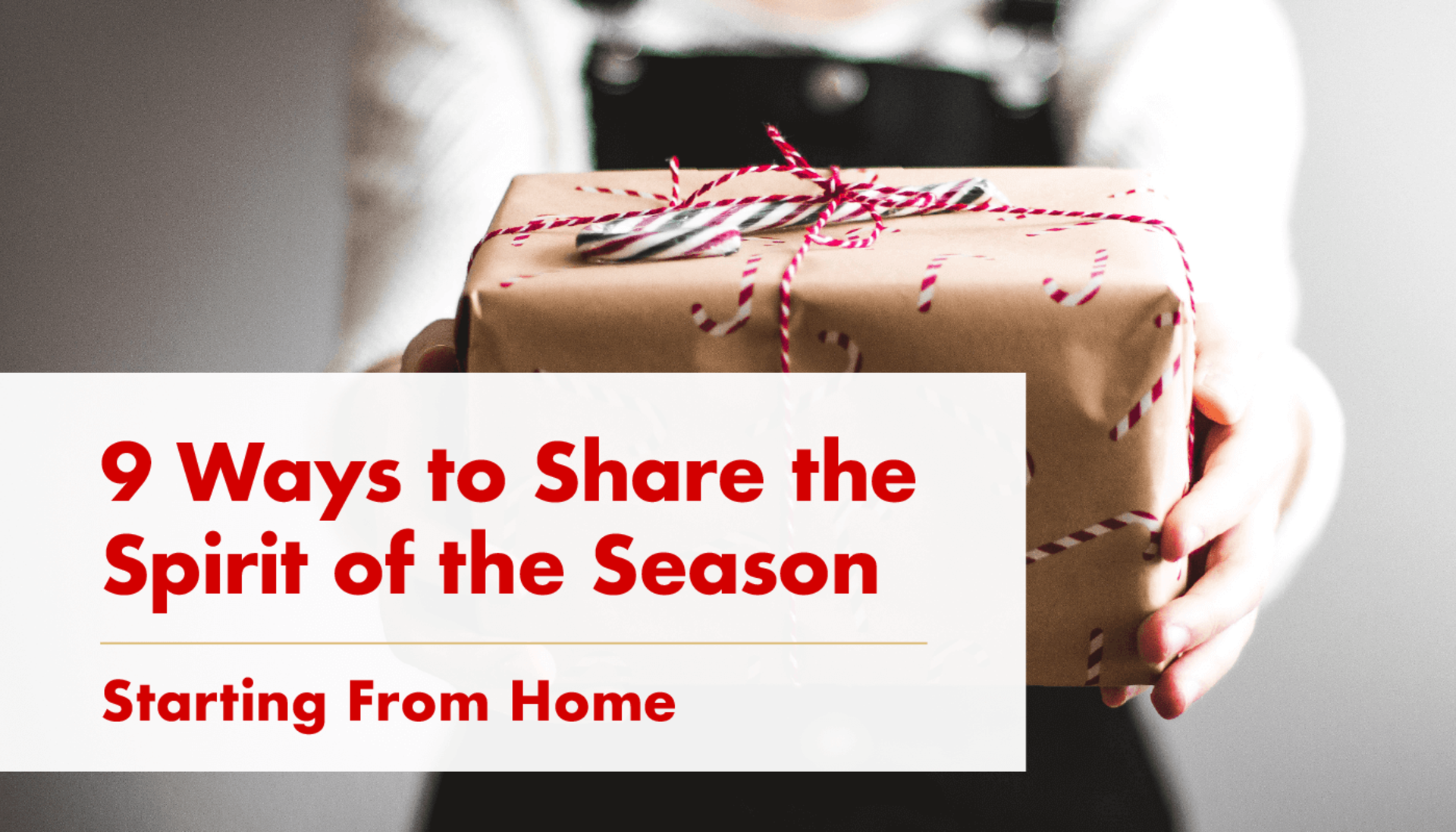 Share the Spirit of the Holidays