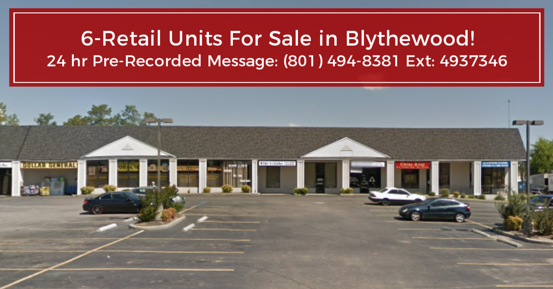 Commercial-6 Retail Units For Sale In Blythewood, SC! (West Side)