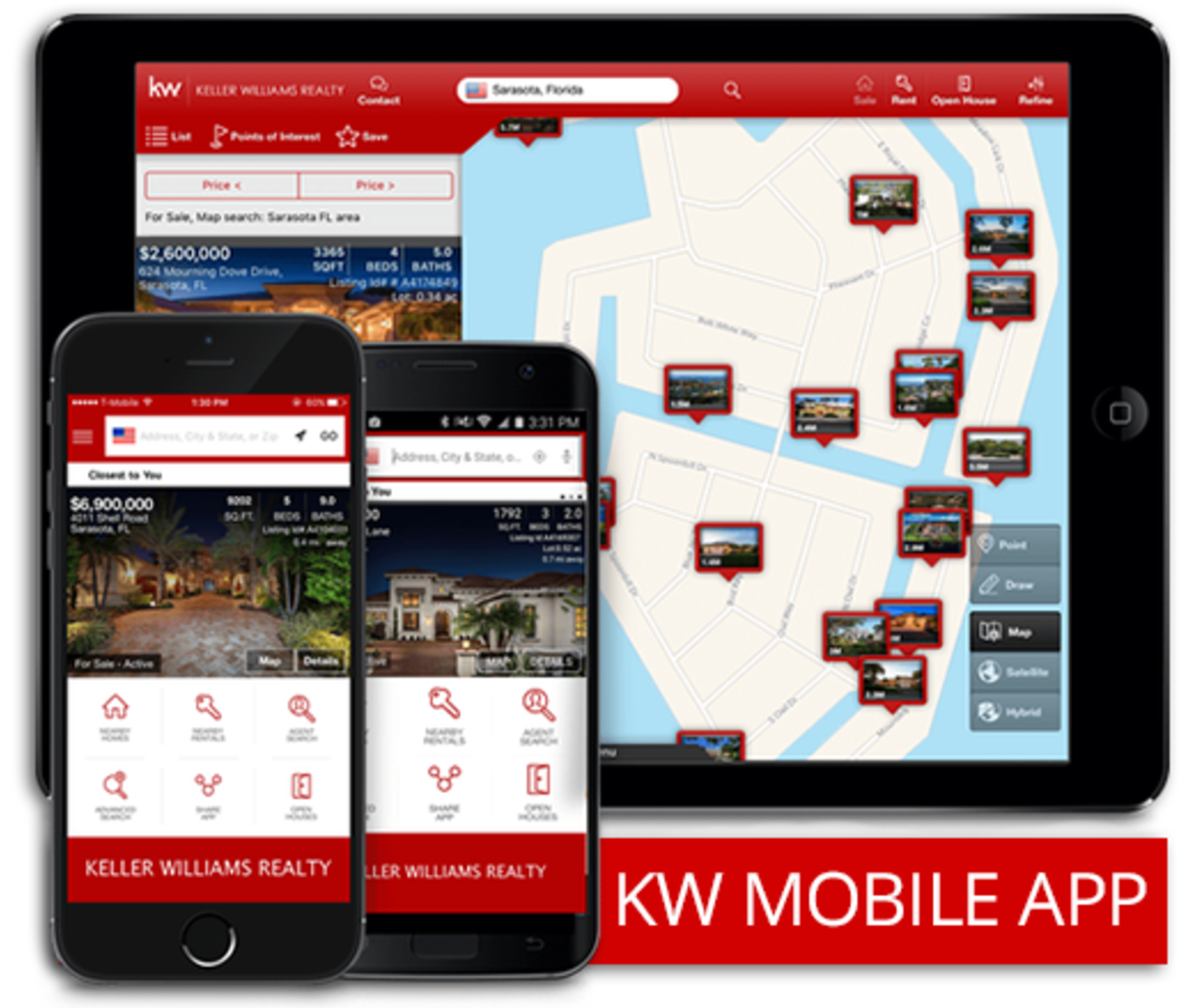 Go Mobile! Download our real estate search app