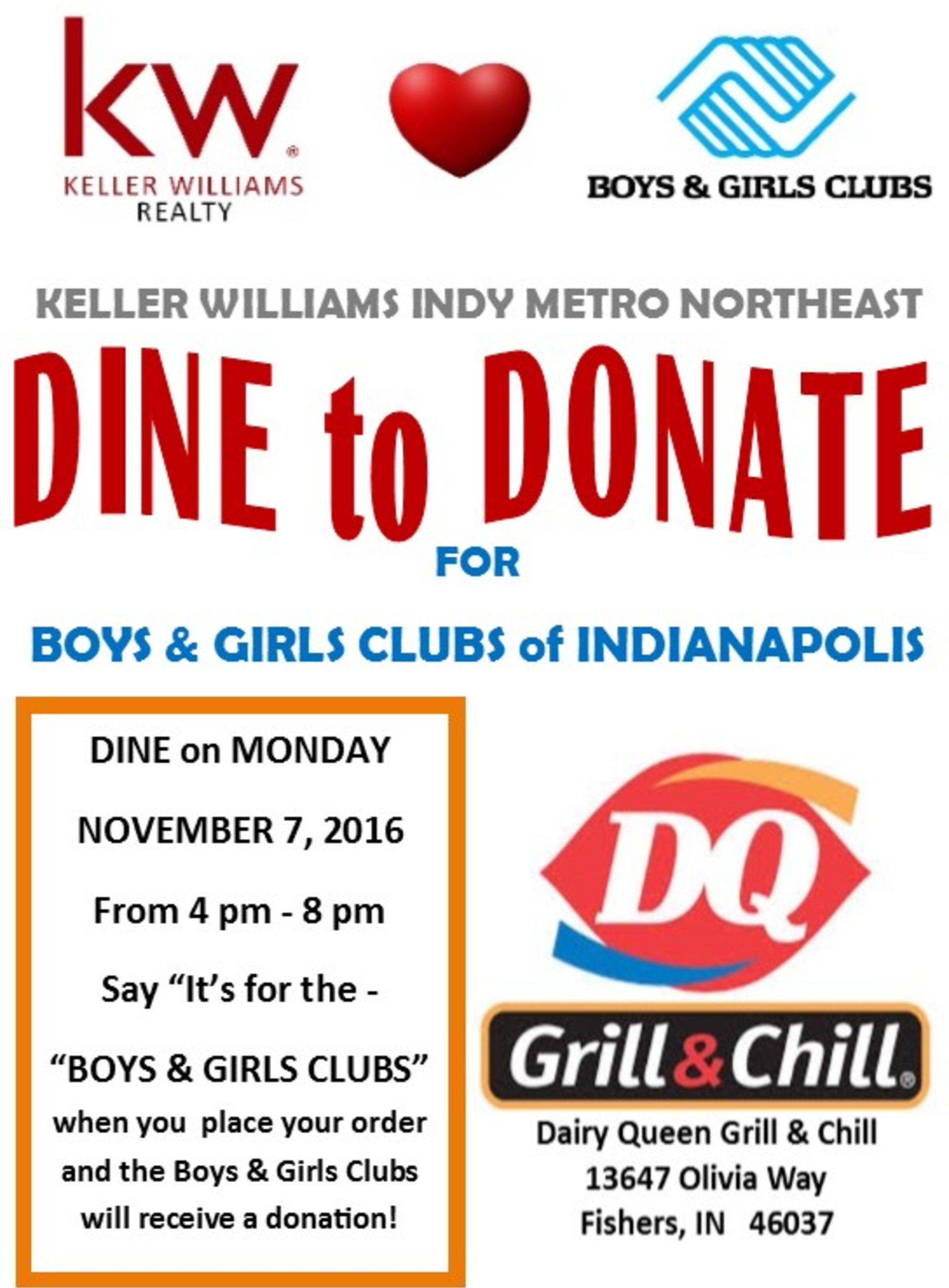 Bonus Dine-to-Donate Event: DQ Cones for a Cause!