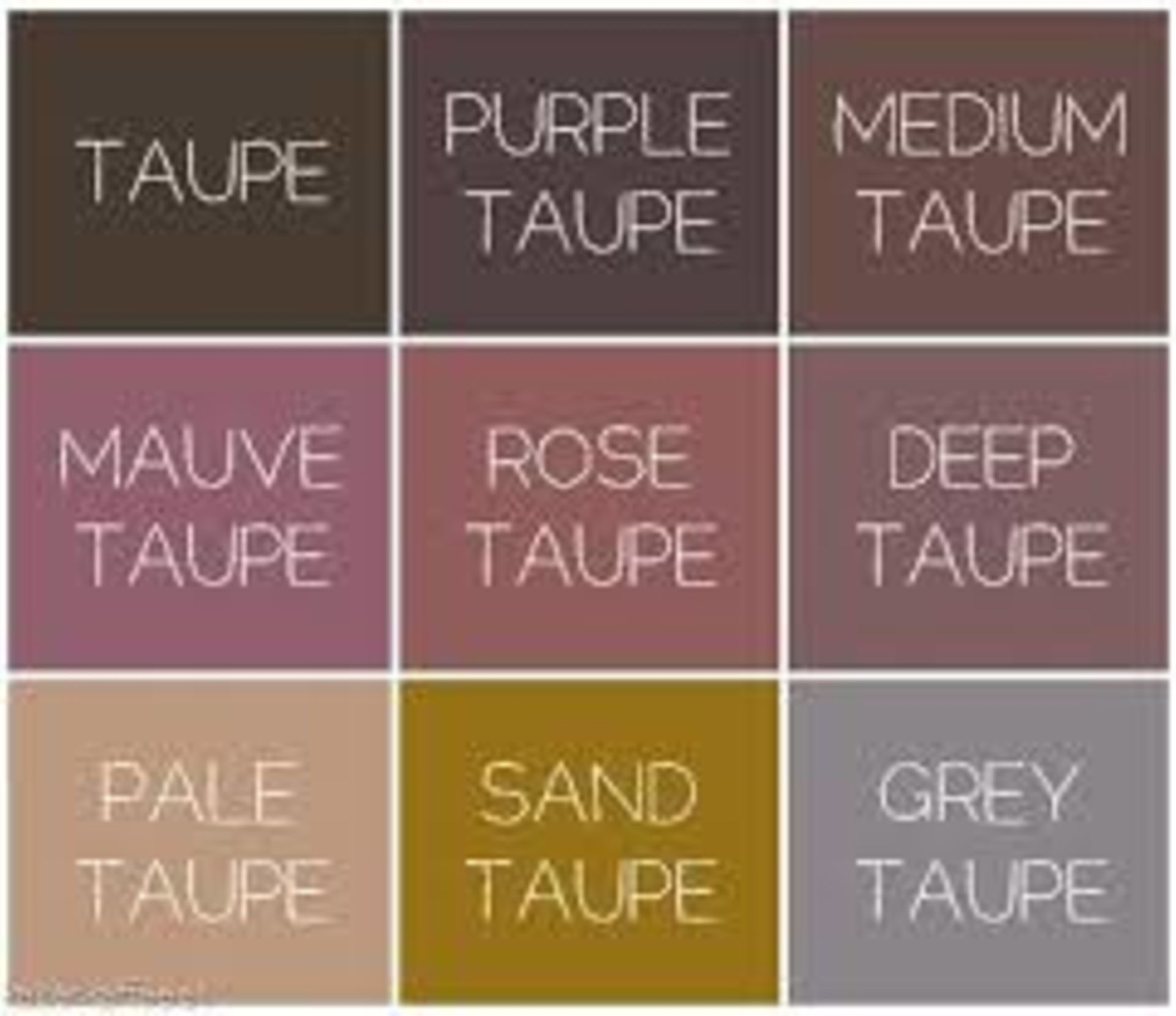 Taupe is the new grey