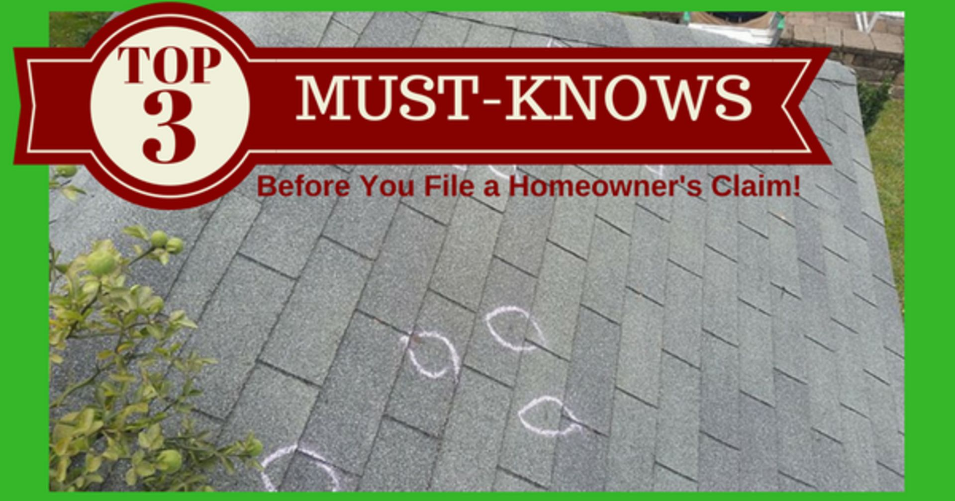 TOP 3 MUST-KNOWS Before You File a Homeowner's Claim