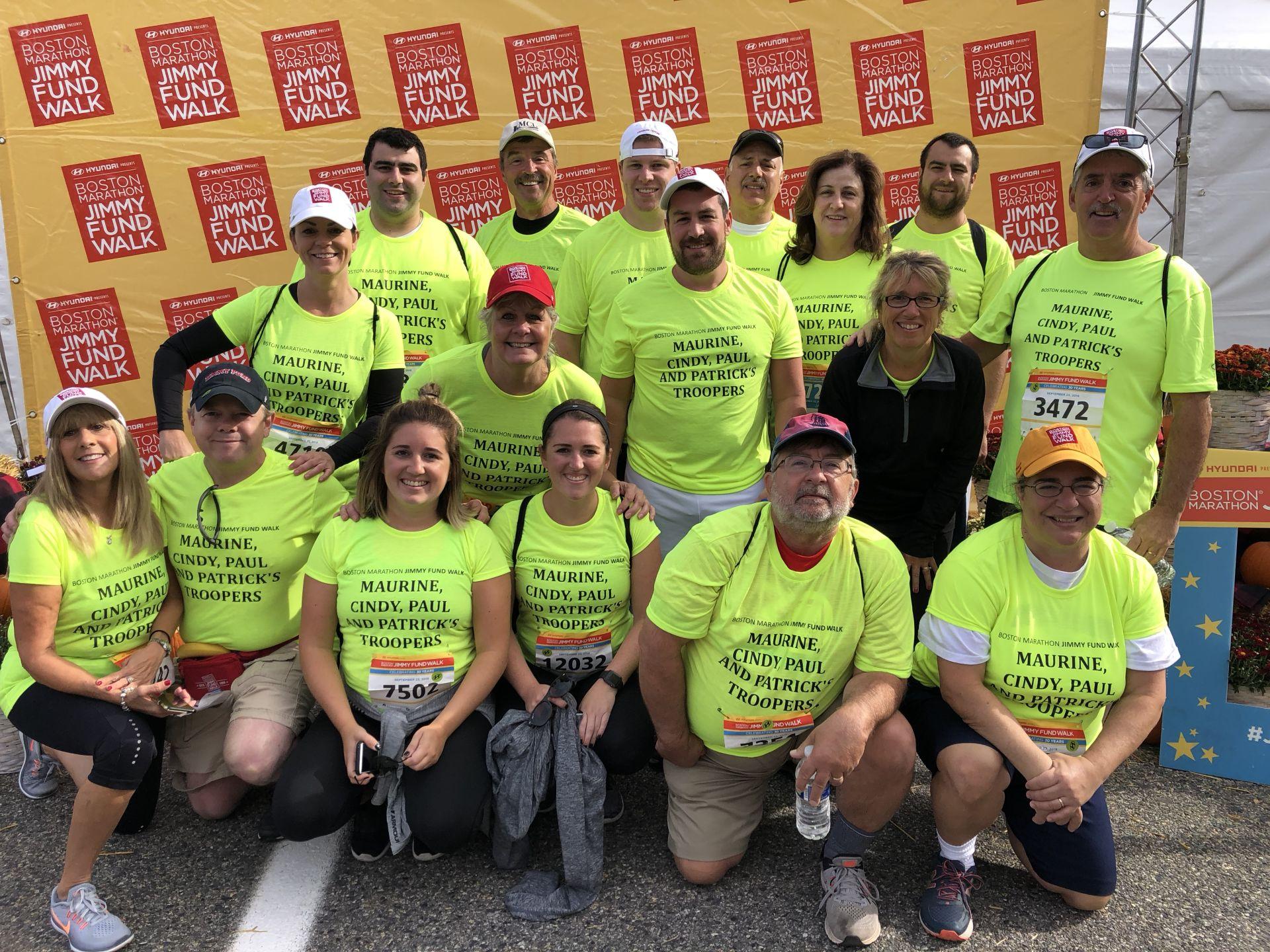 2018 Boston Marathon Jimmy Fund Walk