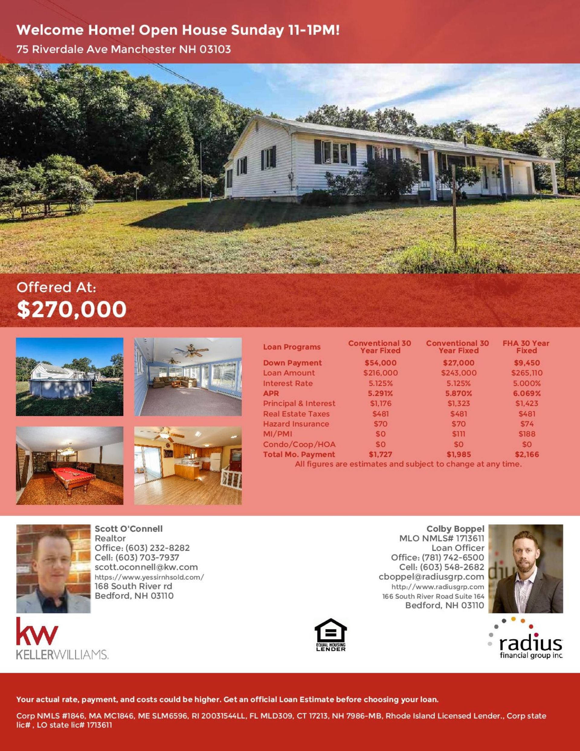 Yes Sir!  Open House – Sunday from 11am – 1pm