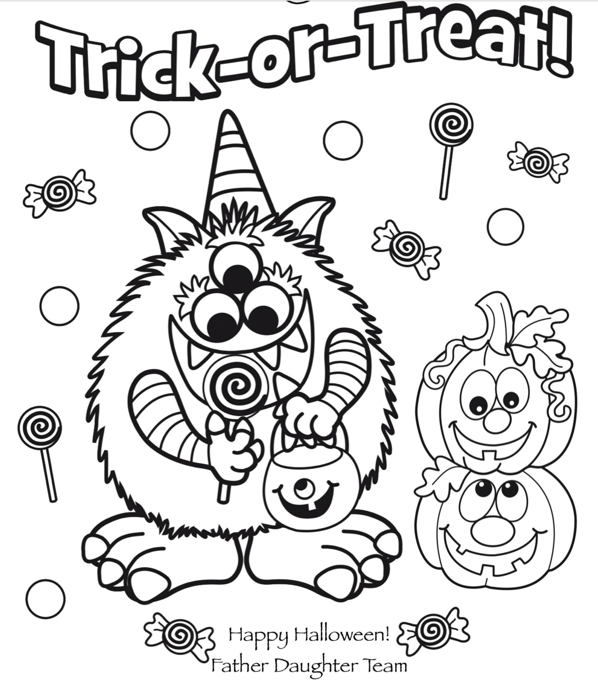 Halloween Coloring Contest 2018