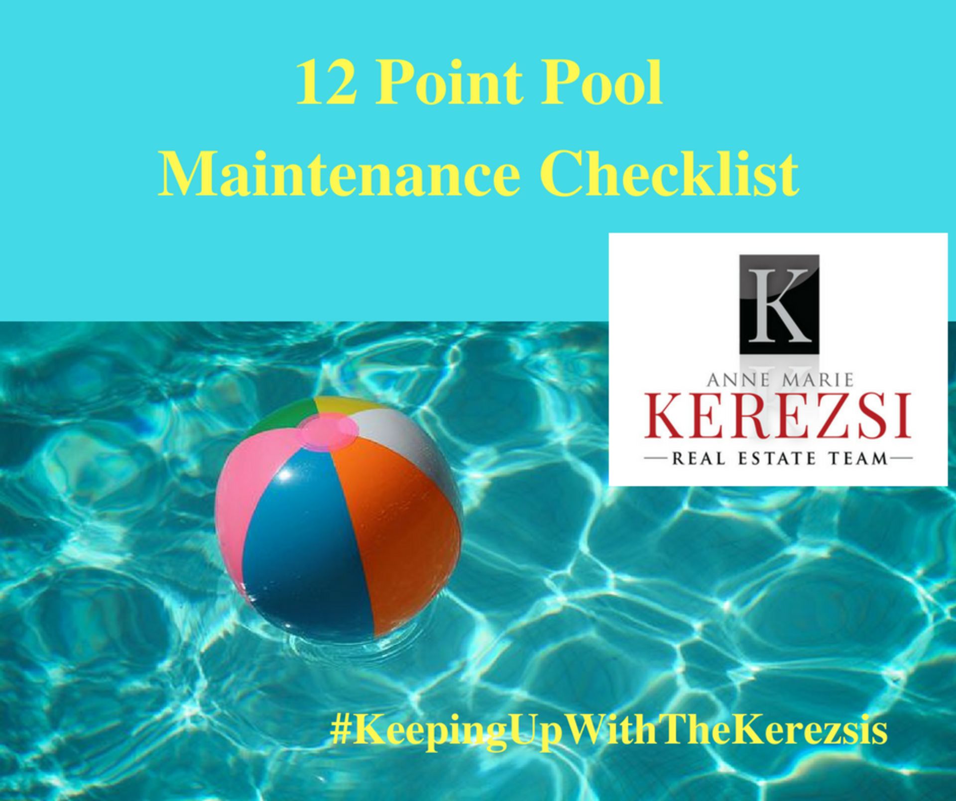12 Point Pool Maintenance Checklist (from HomeKeepr)