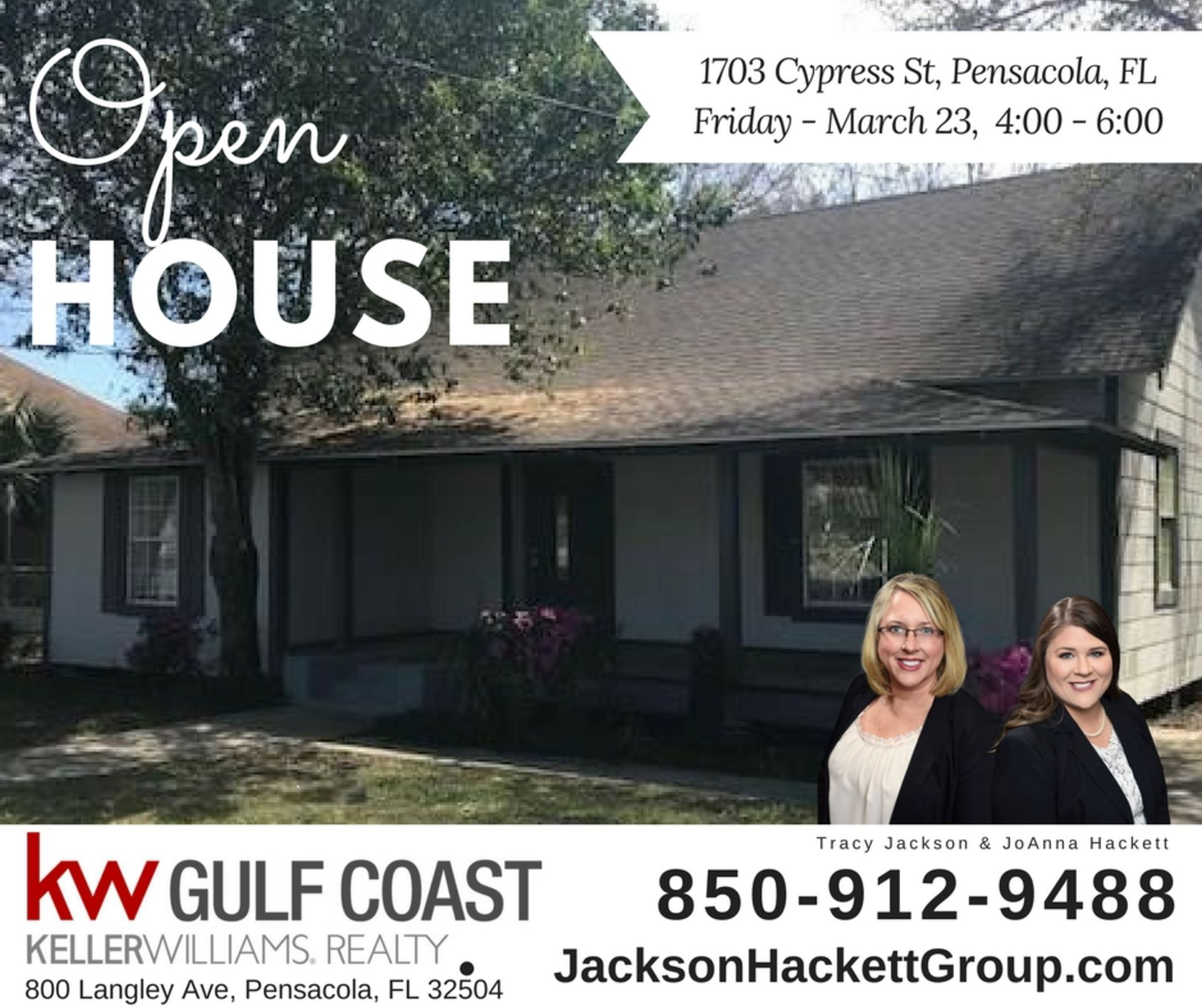 OPEN HOUSE 1703 Cypress St Pensacola
