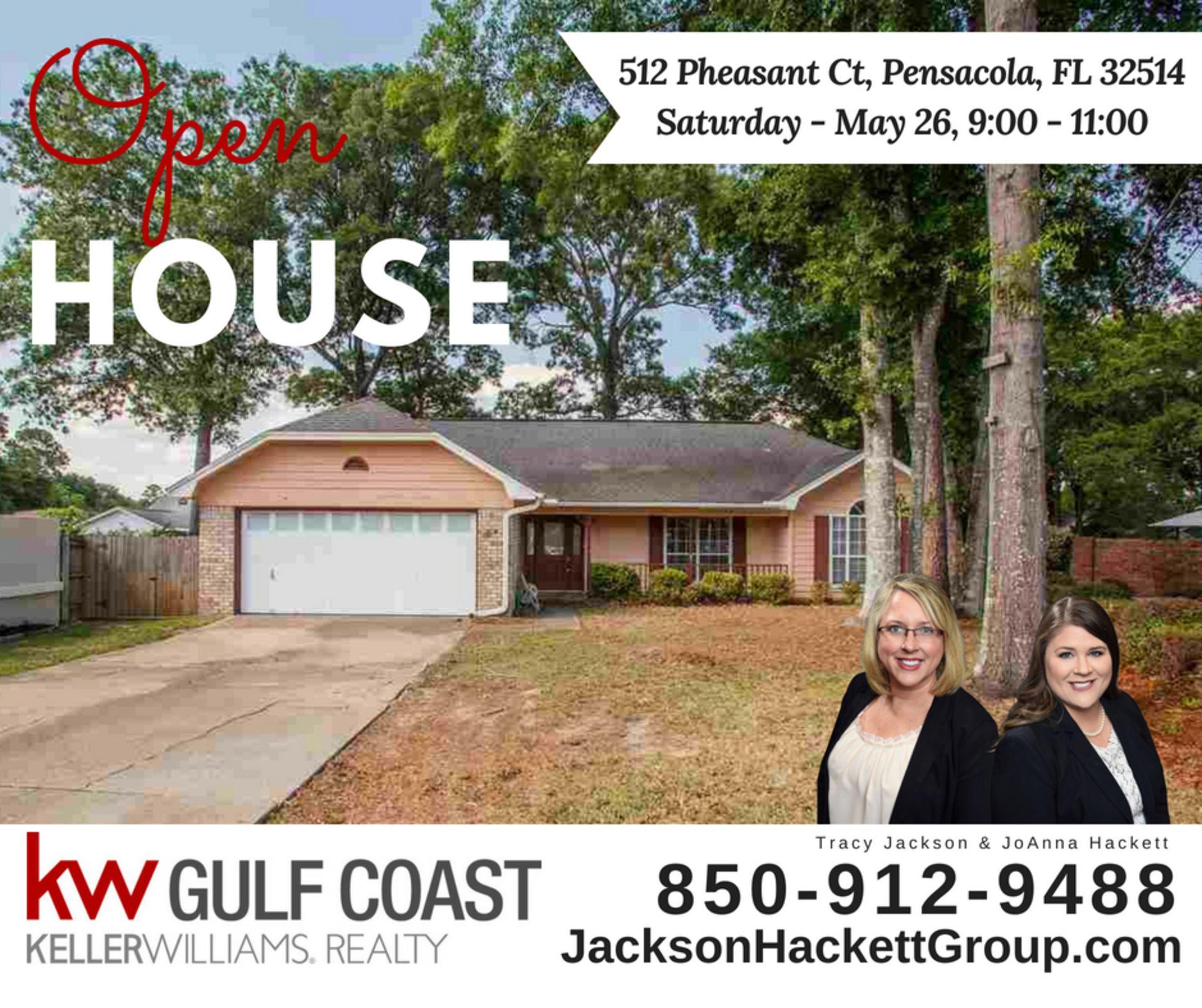 Open House 512 Pheasant Ct 32514