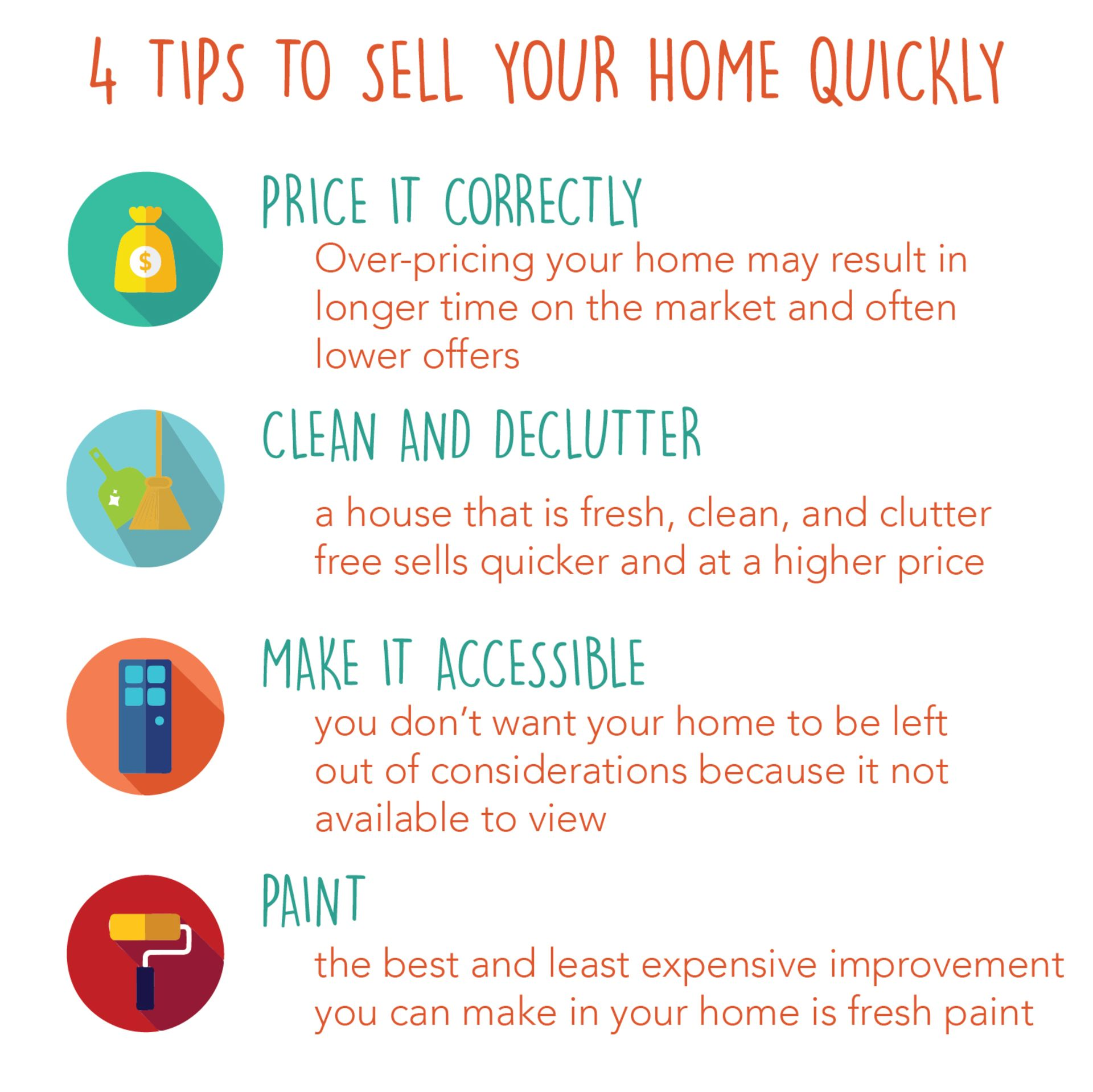 4 Tips to Sell your Home