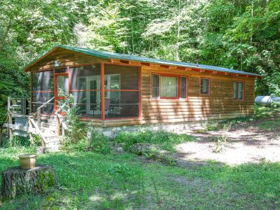 FOR SALE! Creekside Log Cabin in Maggie Valley