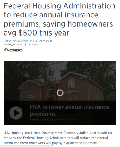 FHA to reduce Mortgage Insurance Premium on January 27…Oops Never Mind