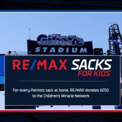 IT'S BACK! RE/MAX SACKS FOR KIDS WITH THE NEW ENGLAND PATRIOTS