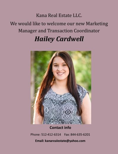 Welcoming Hailey Cardwell!