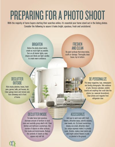 Preparing your home for a photo shoot