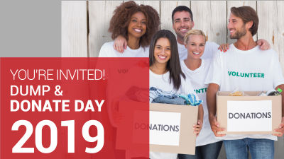 YOU'RE INVITED DUMP & DONATE DAY 2019