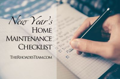 New Year's Home Maintenance Checklist