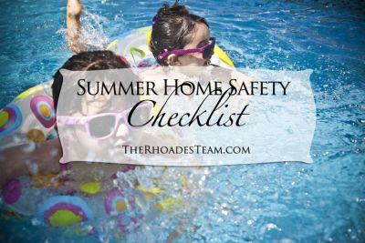 Summer Home Safety Checklist